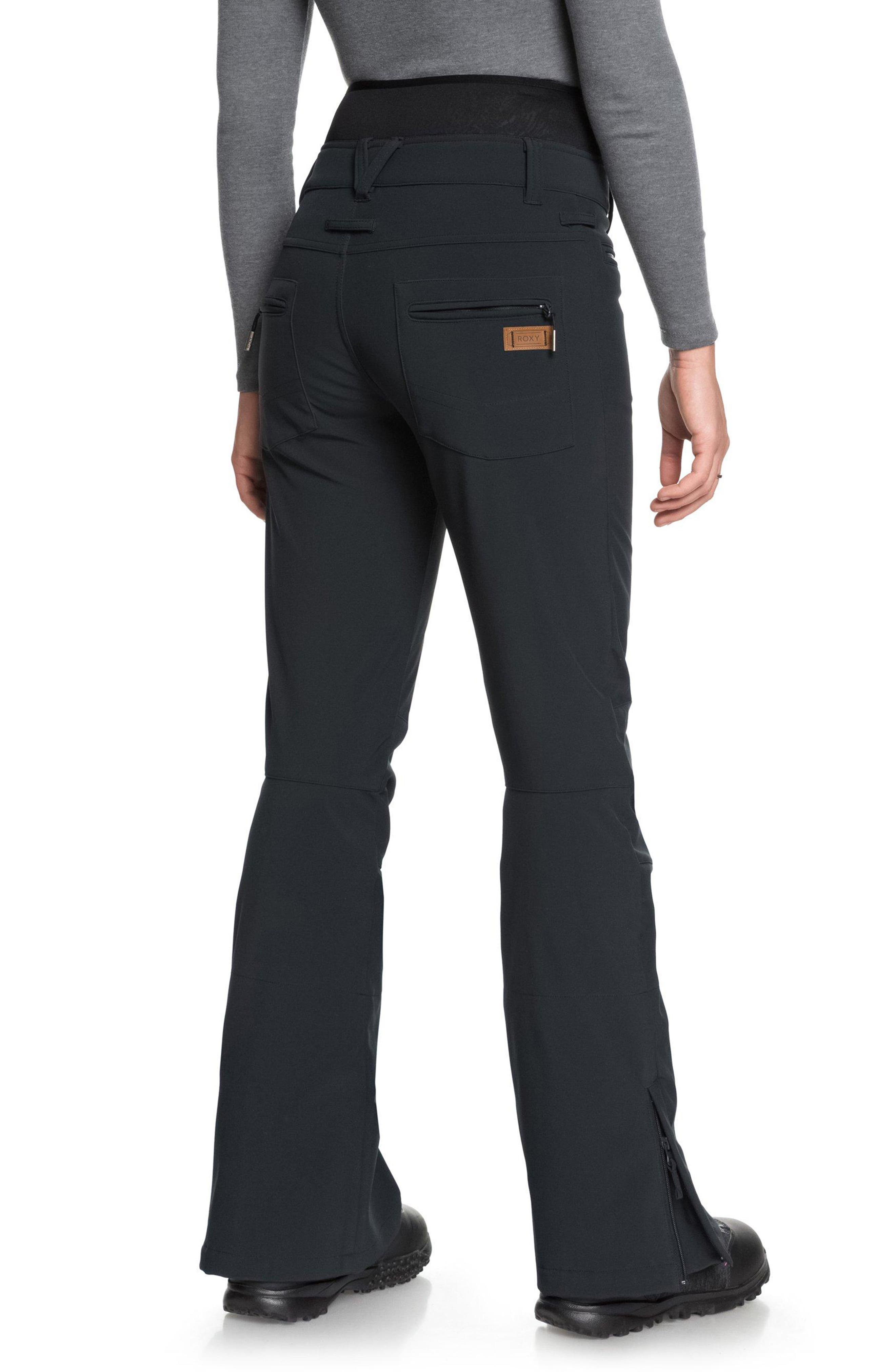 Rising High Snow Pants,                             Alternate thumbnail 4, color,                             TRUE BLACK