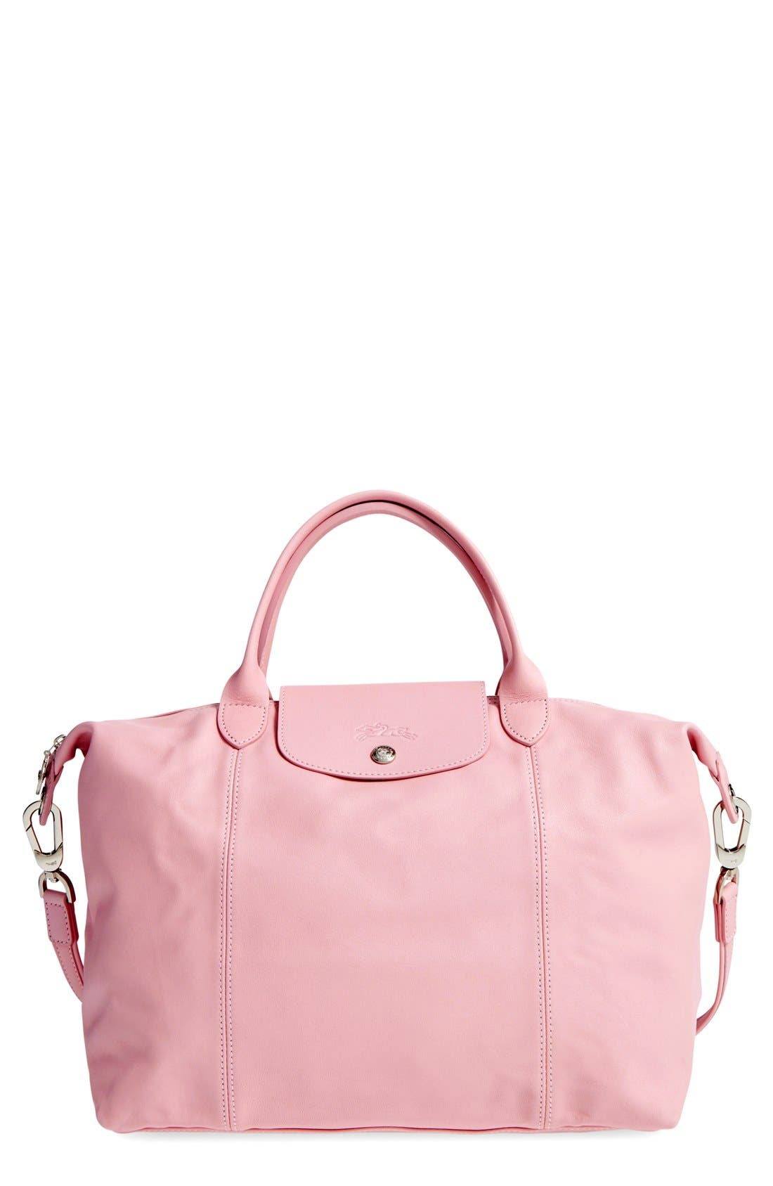 Medium 'Le Pliage Cuir' Leather Top Handle Tote,                             Main thumbnail 30, color,