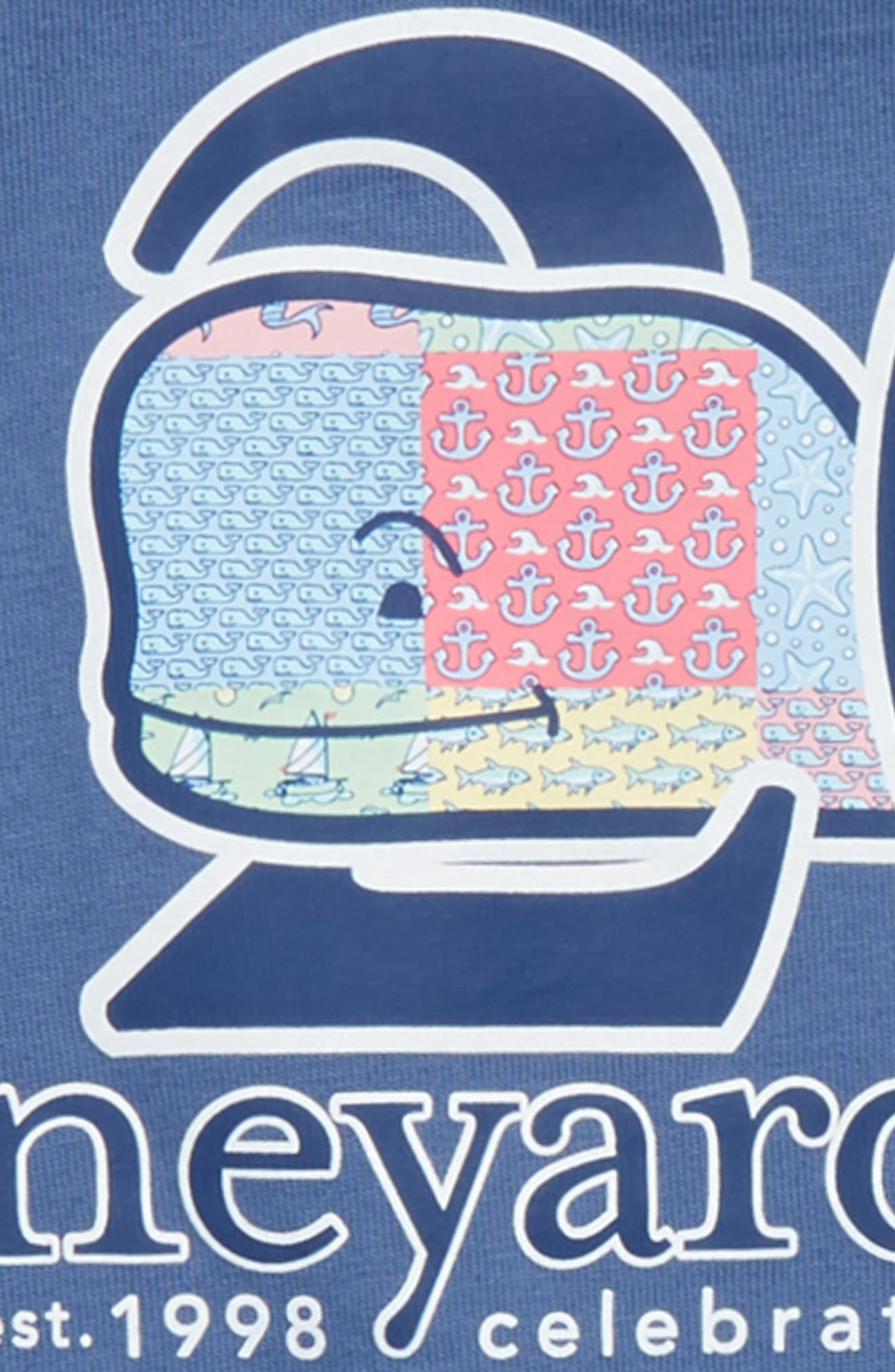 Patchwork Whale Pocket T-Shirt,                             Alternate thumbnail 3, color,                             MOONSHINE