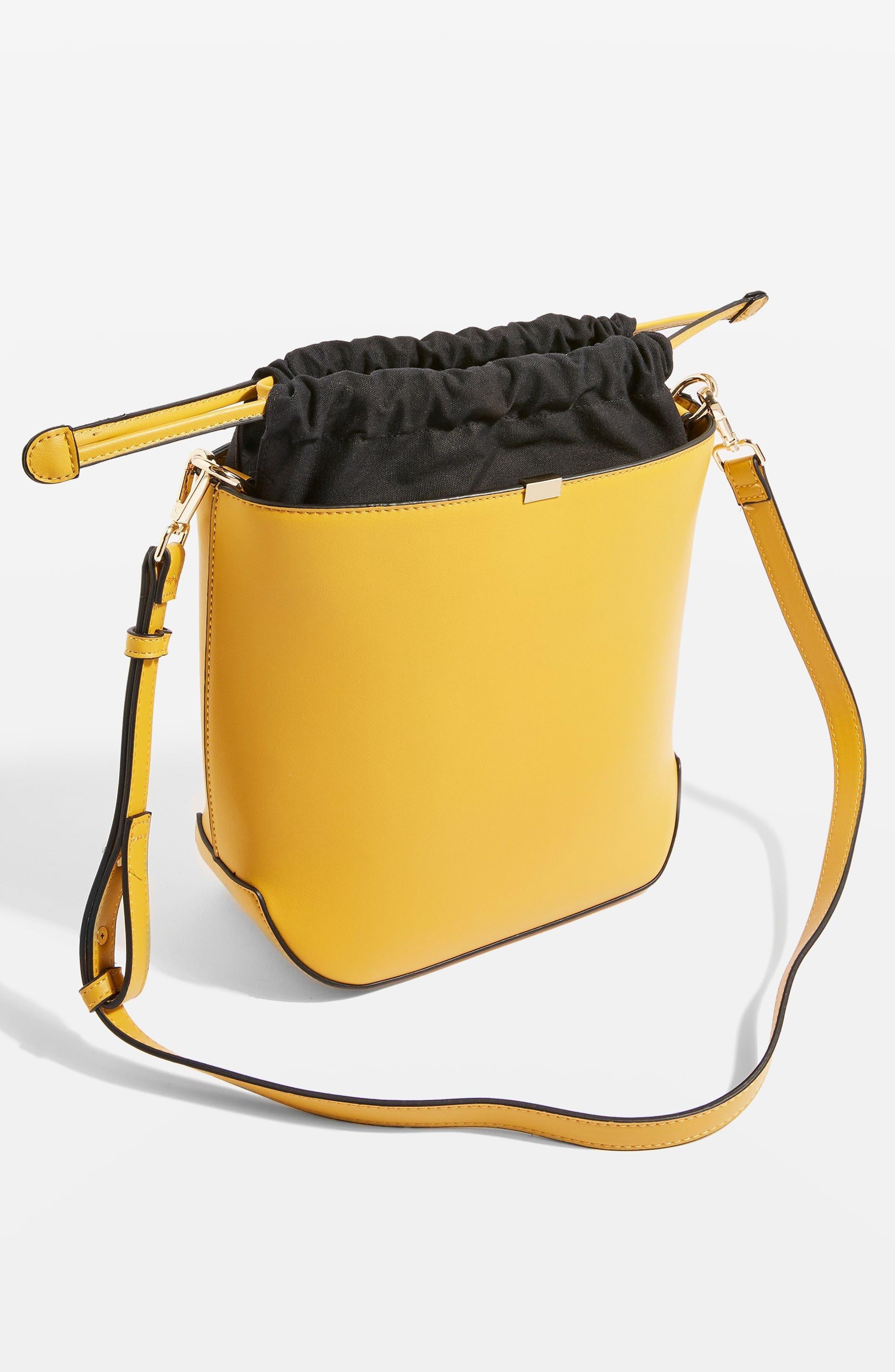 Romy Bucket Shoulder Handbag,                             Alternate thumbnail 4, color,                             YELLOW MULTI