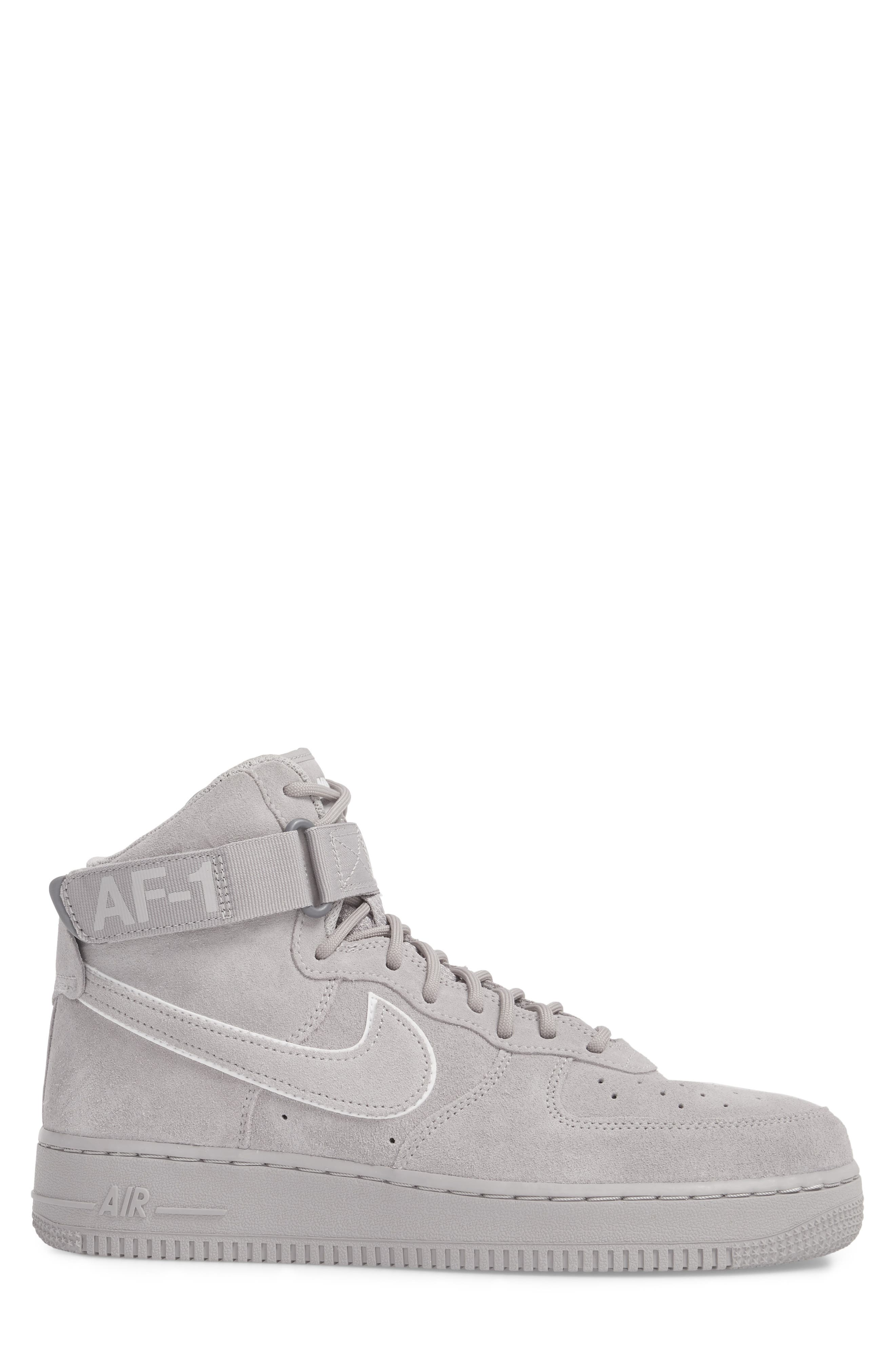 Air Force 1 High '07 LV8 Suede Sneaker,                             Alternate thumbnail 3, color,                             023