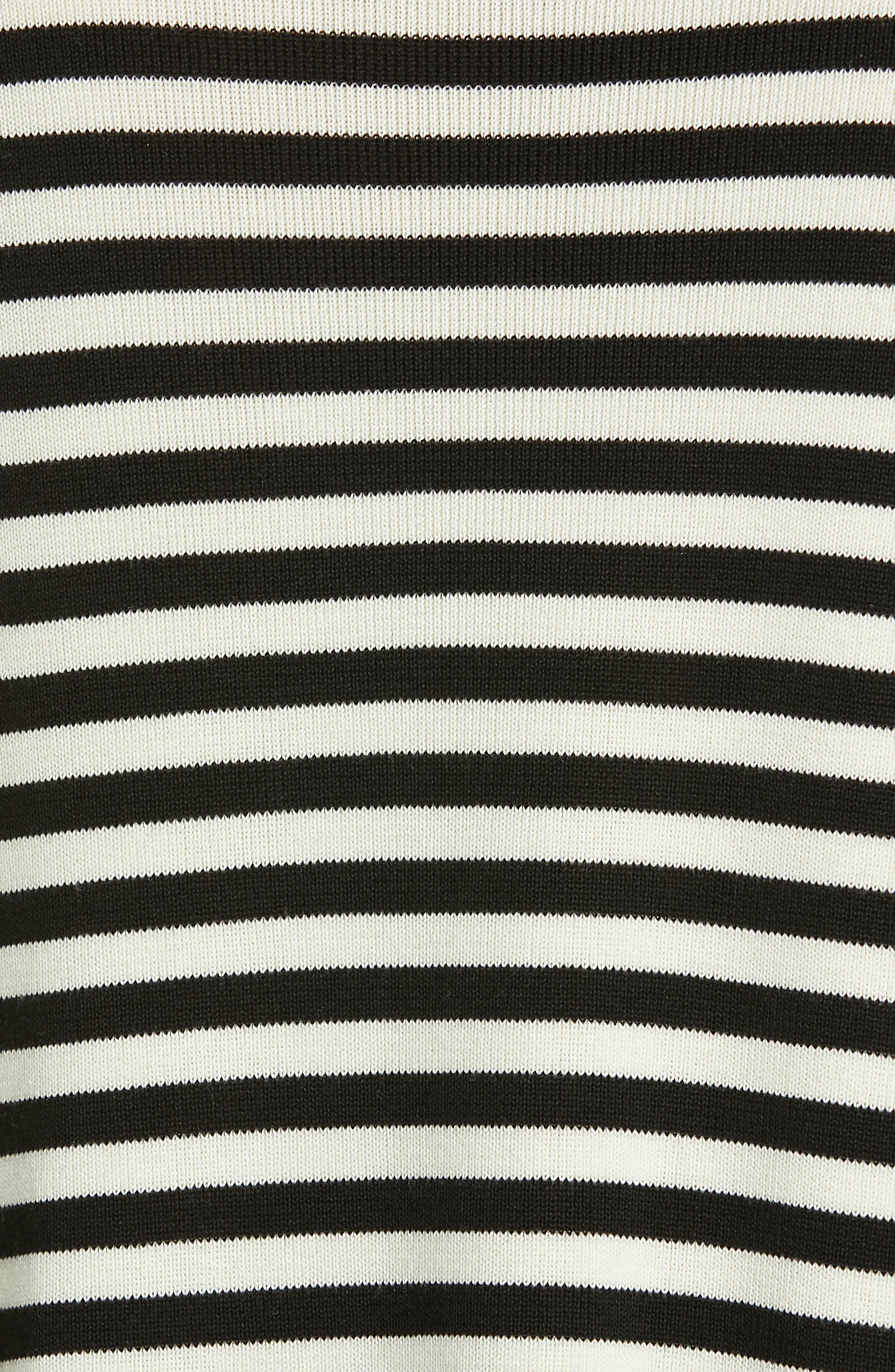 Tencel<sup>®</sup> Lyocell & Silk Sweater,                             Alternate thumbnail 5, color,                             BLACK/ SOFT WHITE