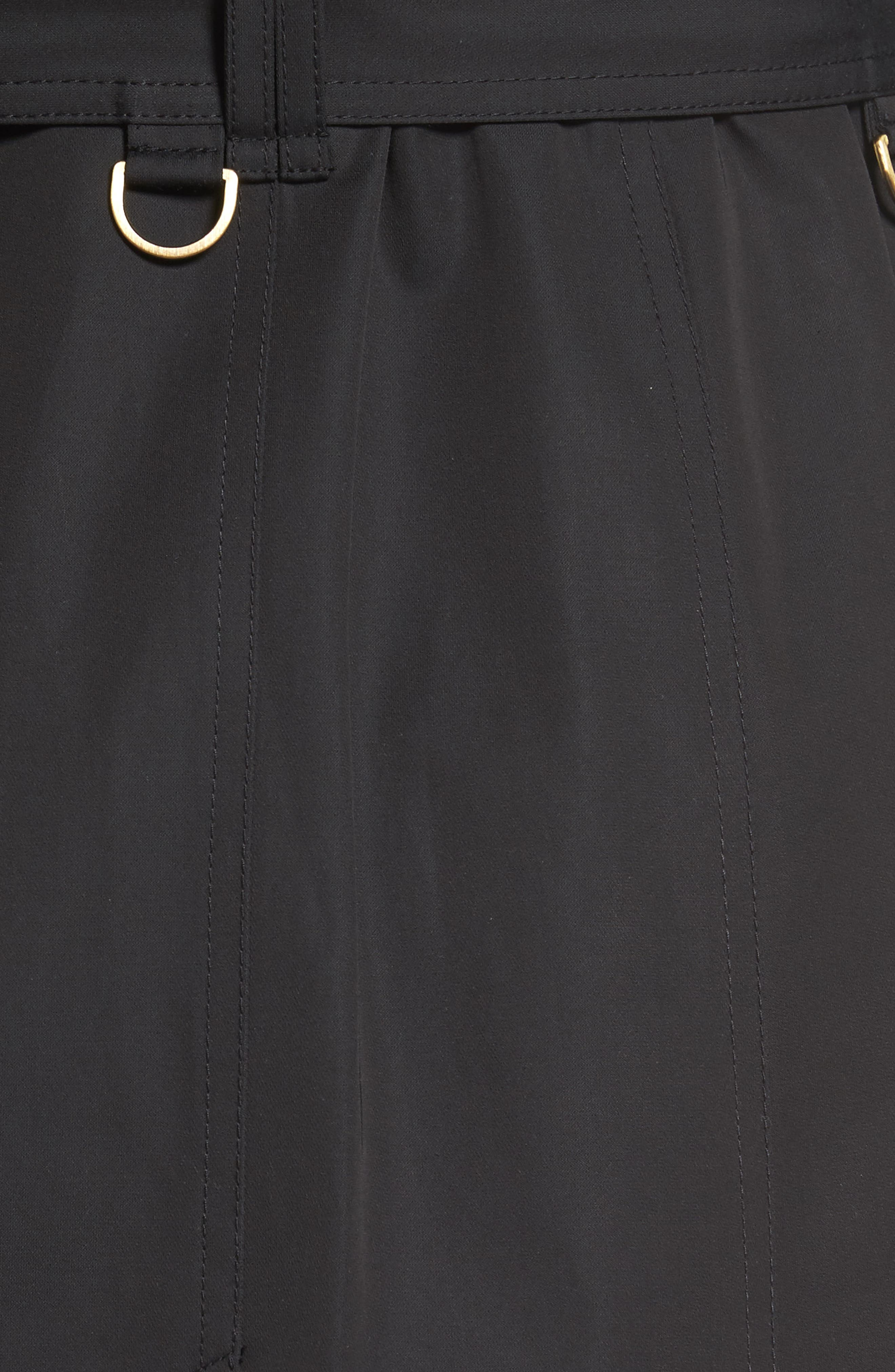 Hooded Single Breasted Long Trench Coat,                             Alternate thumbnail 6, color,