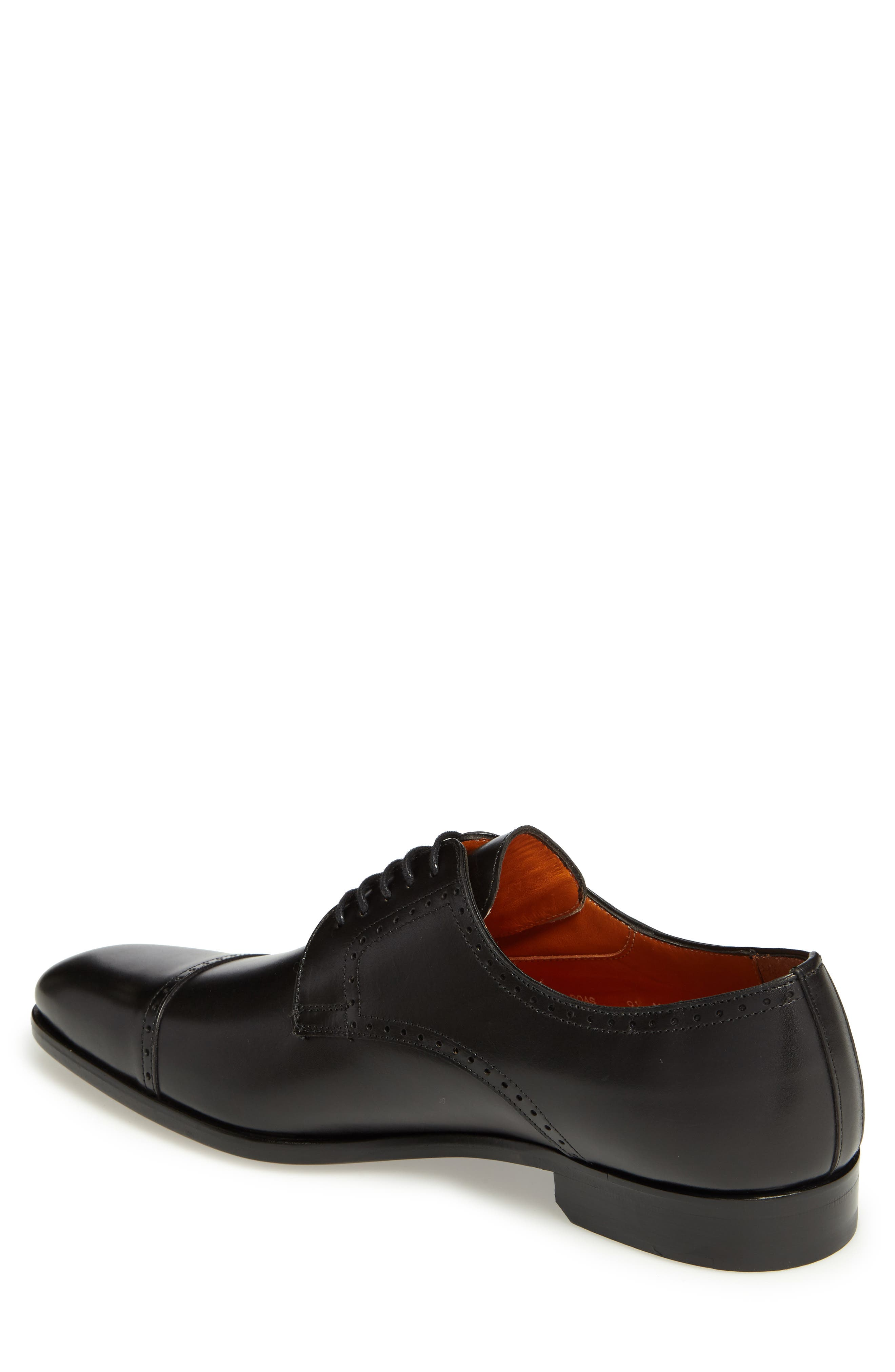 Boas Cap Toe Oxford,                             Alternate thumbnail 2, color,                             BLACK LEATHER