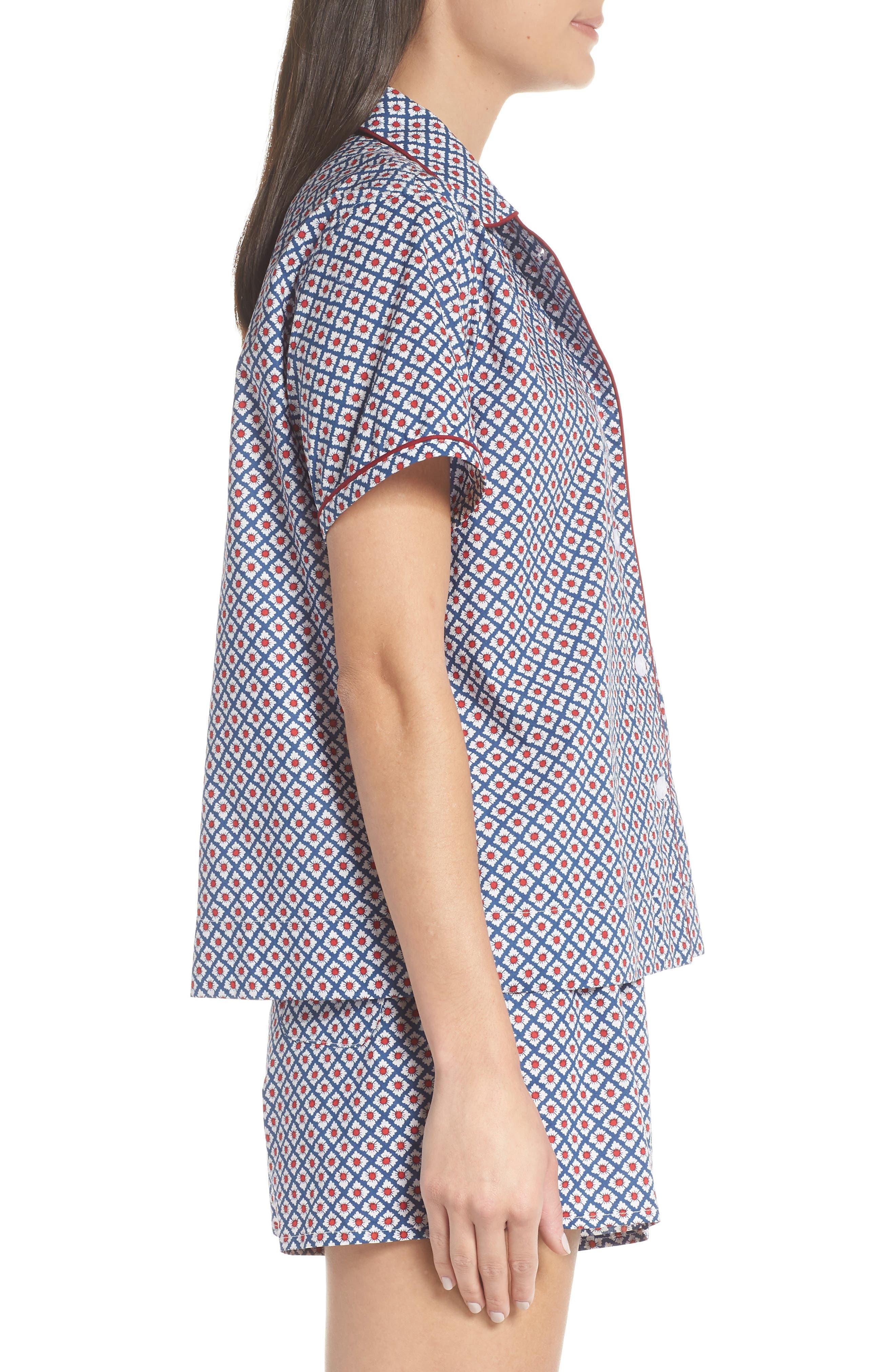 Corita Women's Pajama Shirt,                             Alternate thumbnail 4, color,                             NAVY