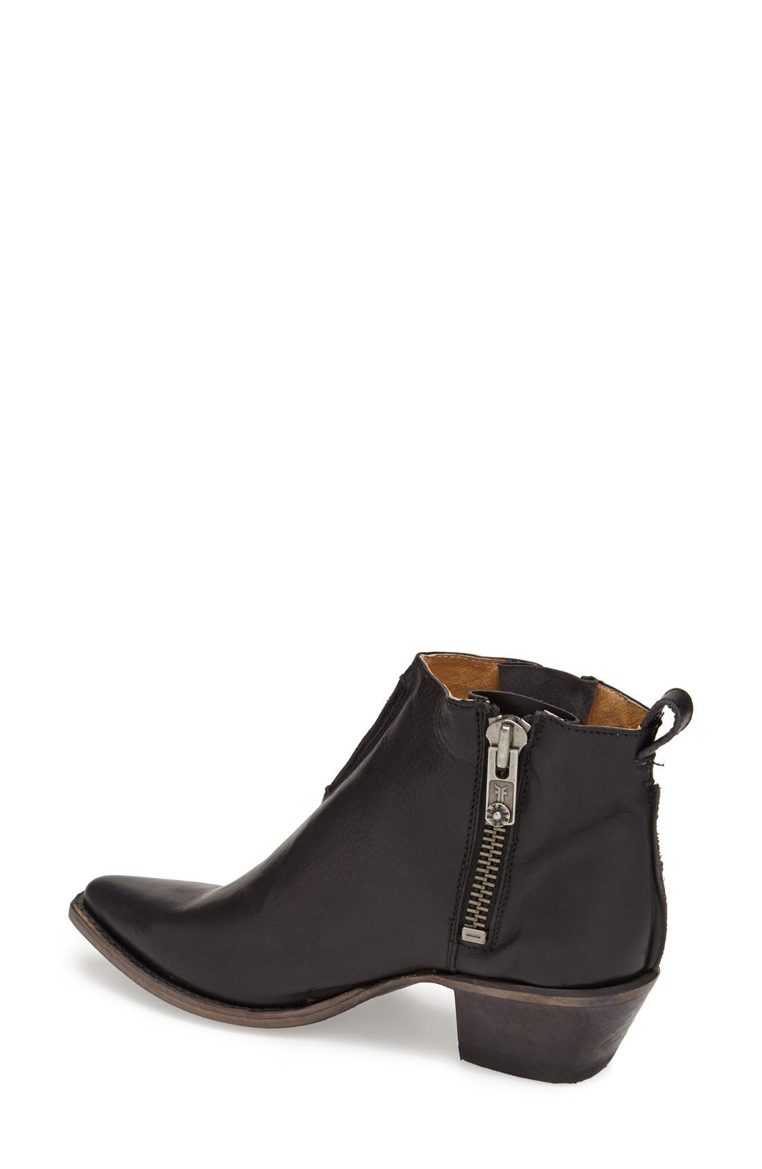 'Sacha' Washed Leather Ankle Boot,                             Alternate thumbnail 7, color,