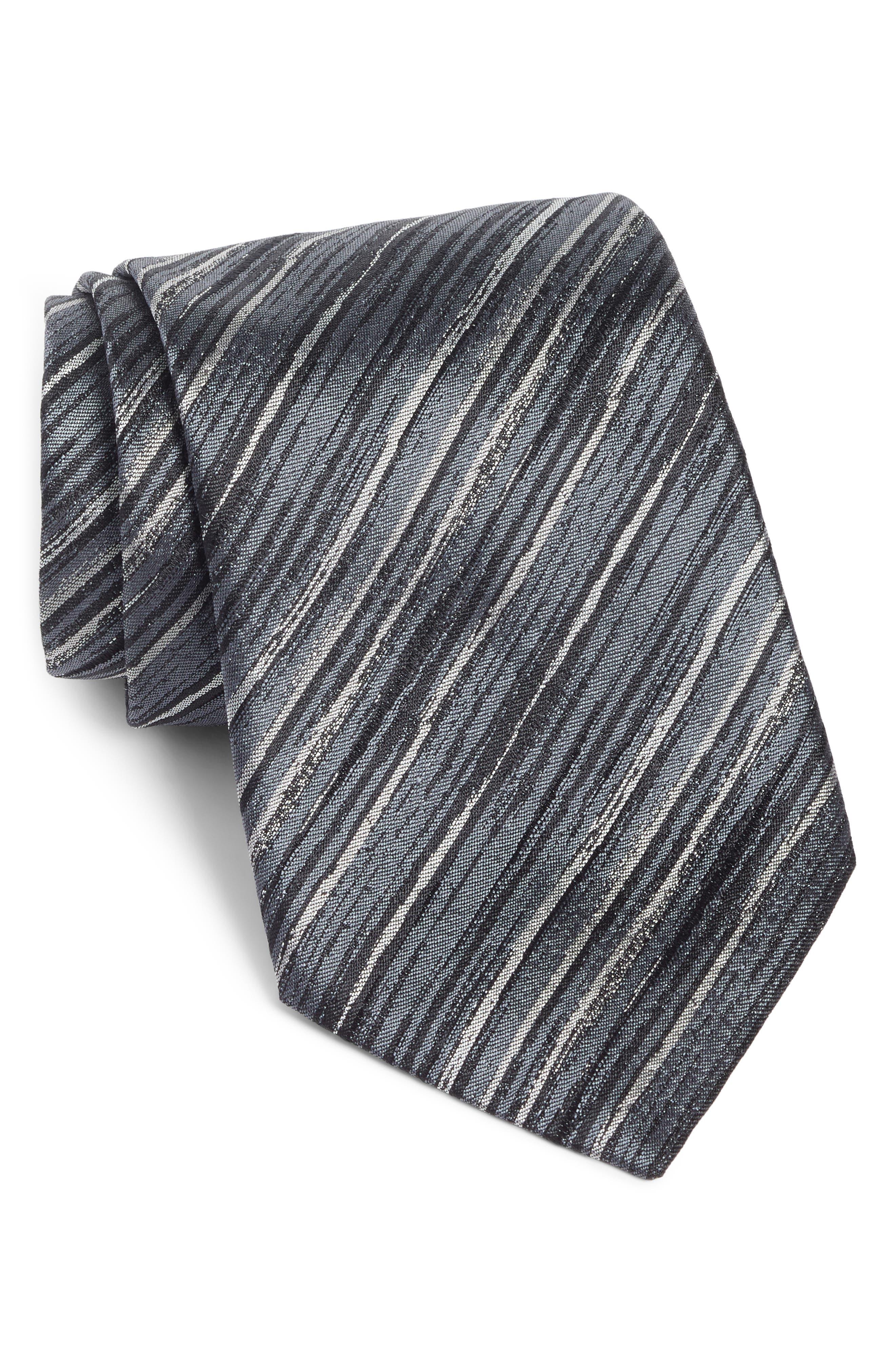 Stripe Silk Tie,                         Main,                         color, 014
