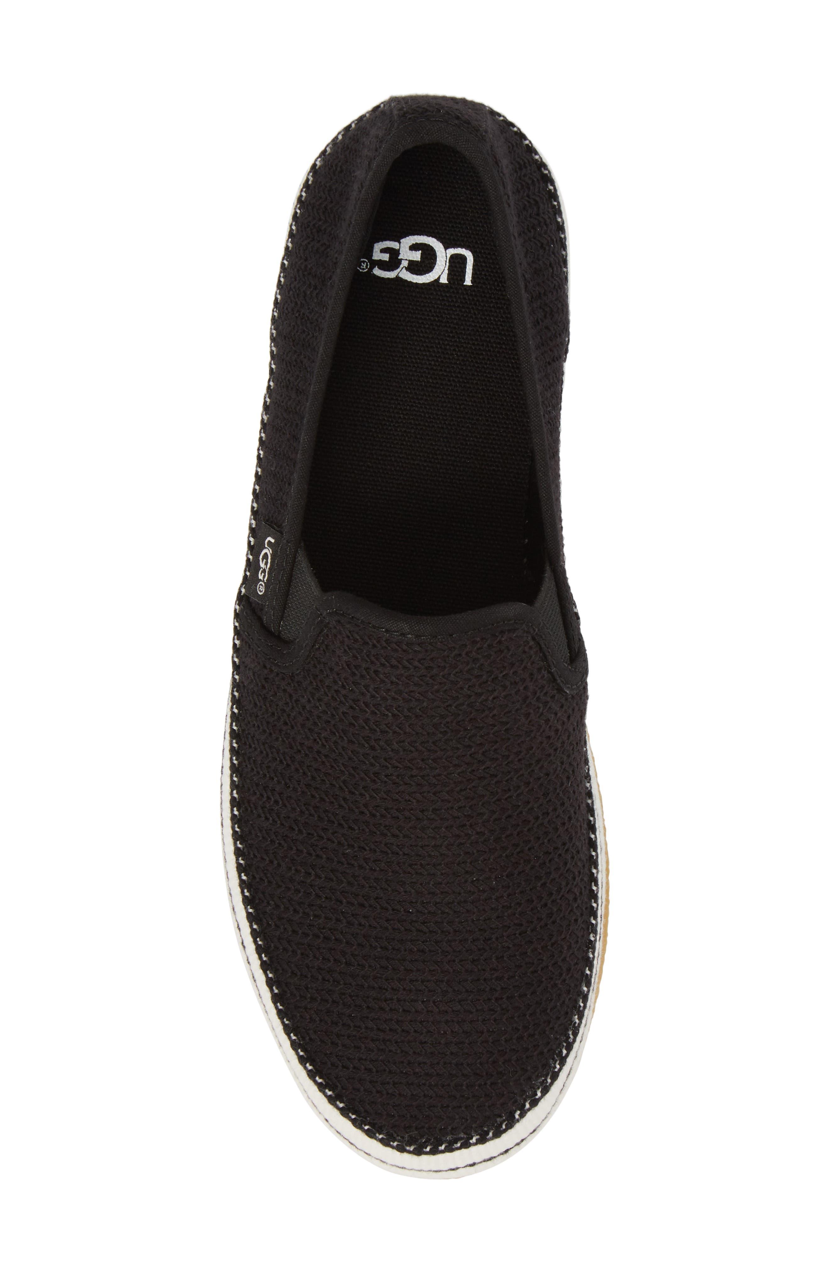 Bren Slip-On Sneaker,                             Alternate thumbnail 5, color,                             BLACK