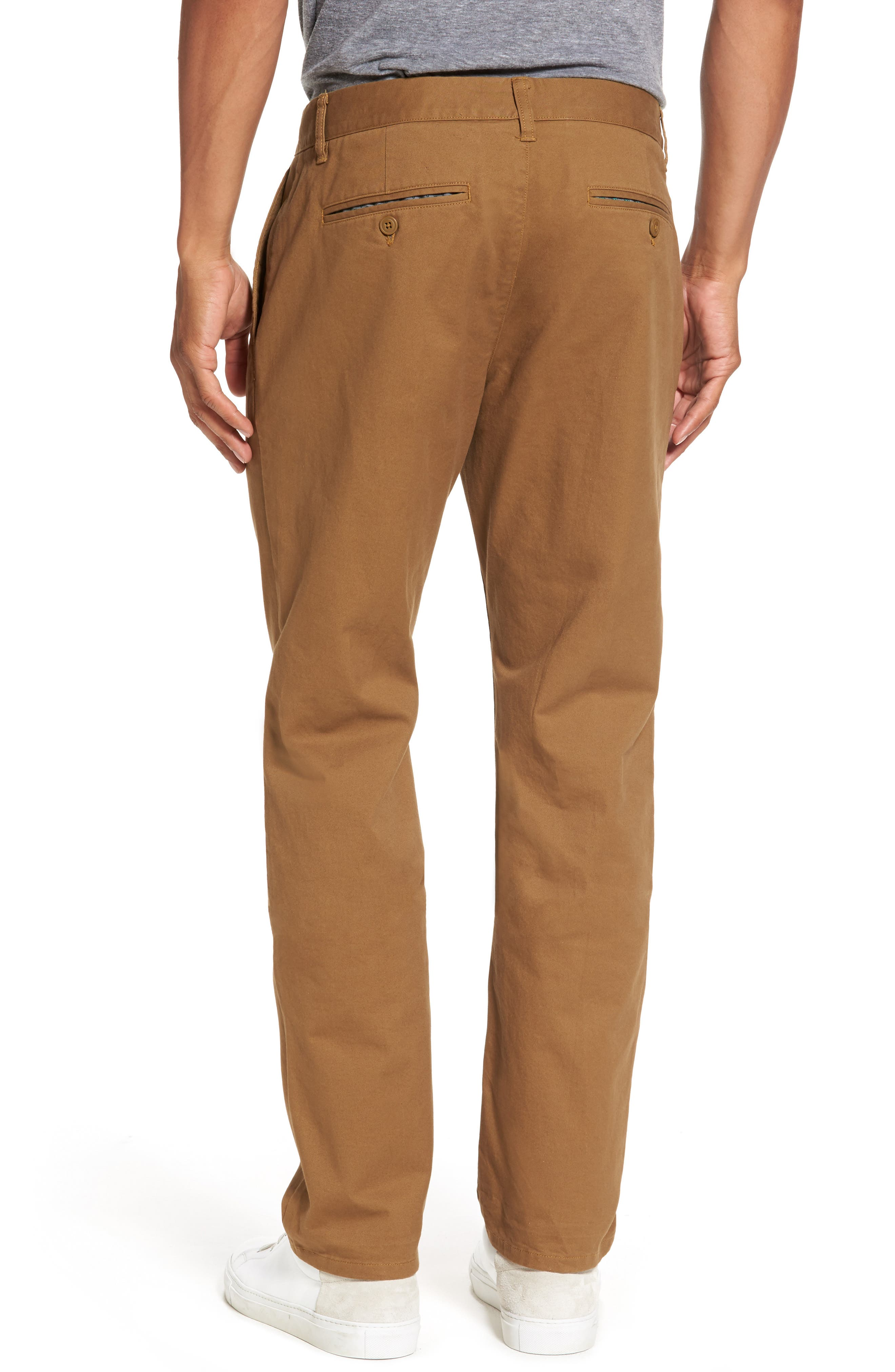 Slim Fit Stretch Washed Chinos,                             Alternate thumbnail 2, color,                             CHESTNUTS
