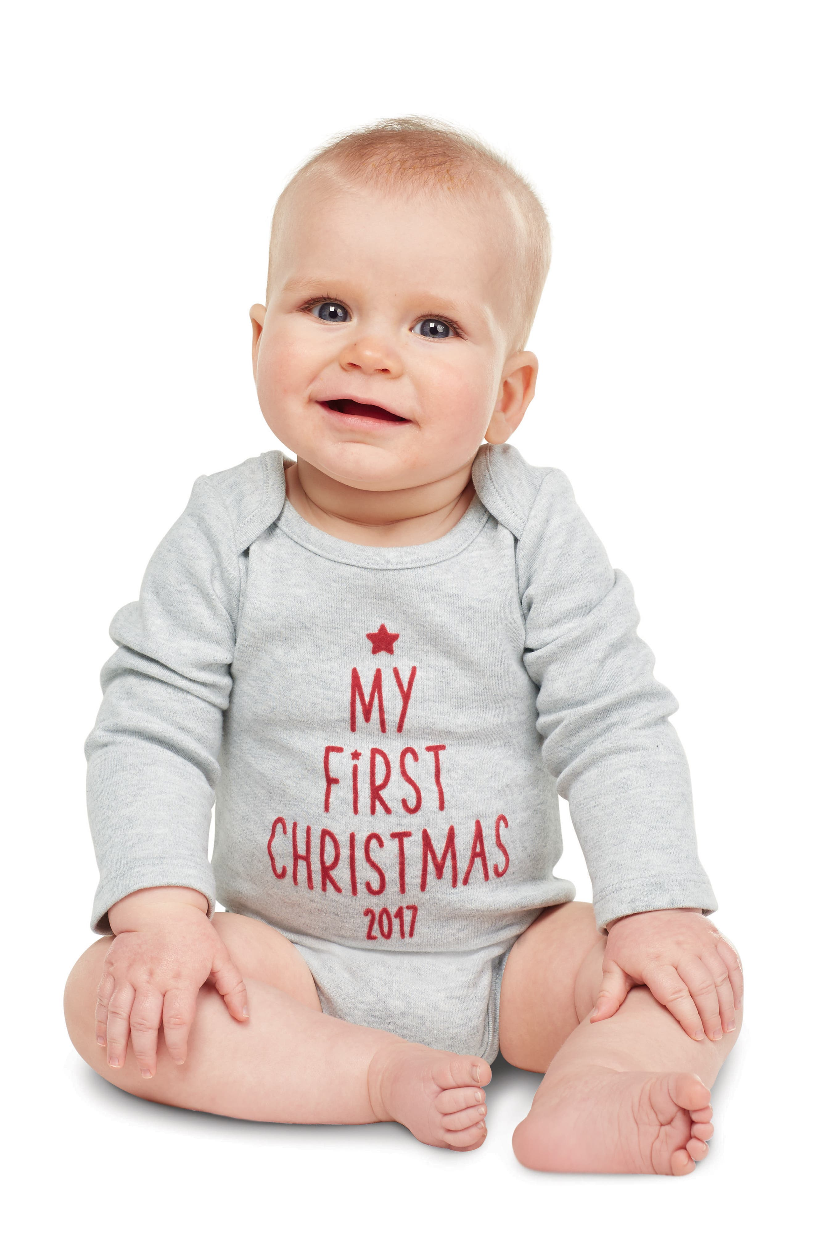 My First Christmas Bodysuit,                             Alternate thumbnail 2, color,                             020