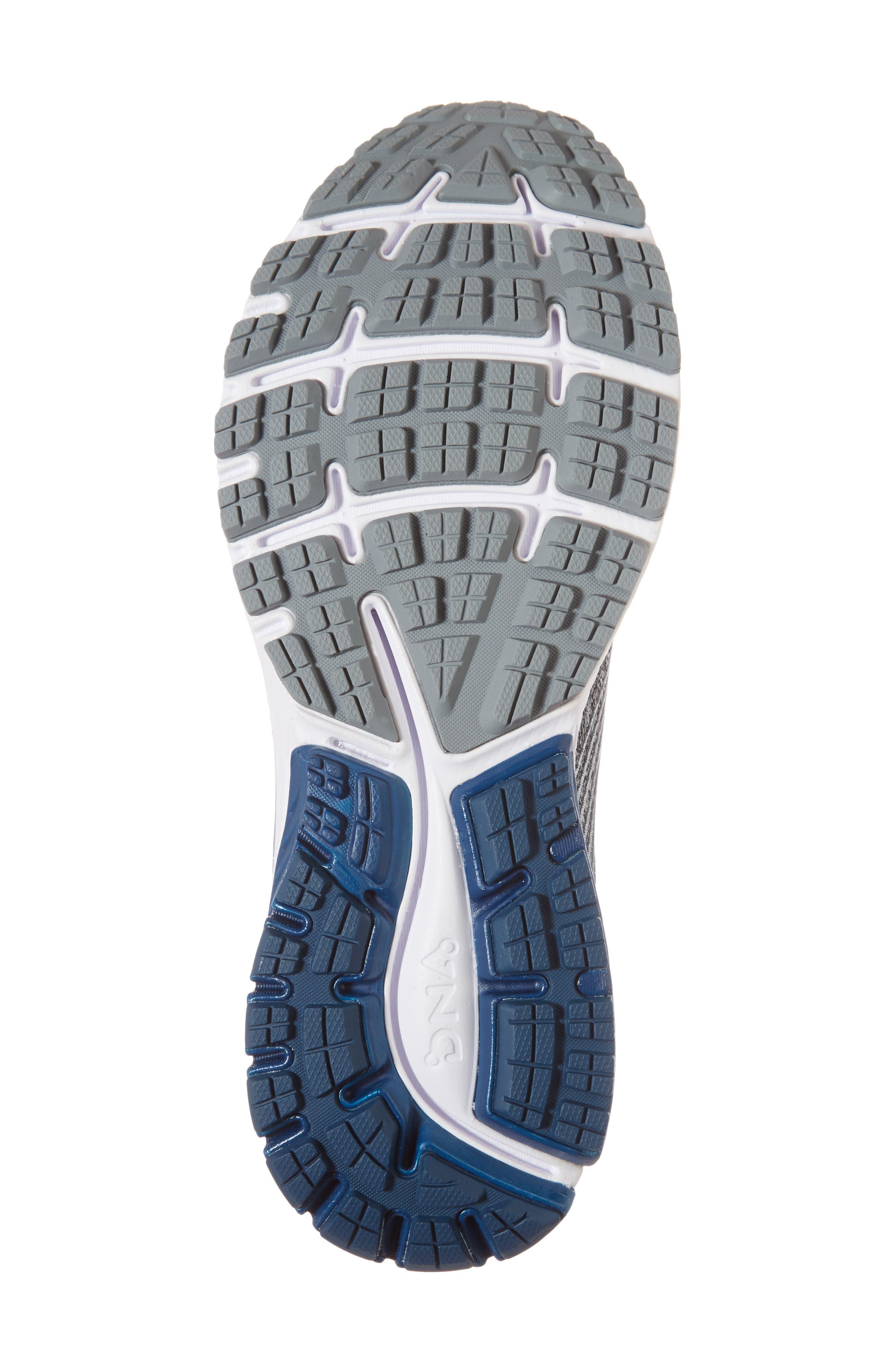 Ghost 10 Running Shoe,                             Alternate thumbnail 6, color,                             SILVER/ BLUE/ WHITE