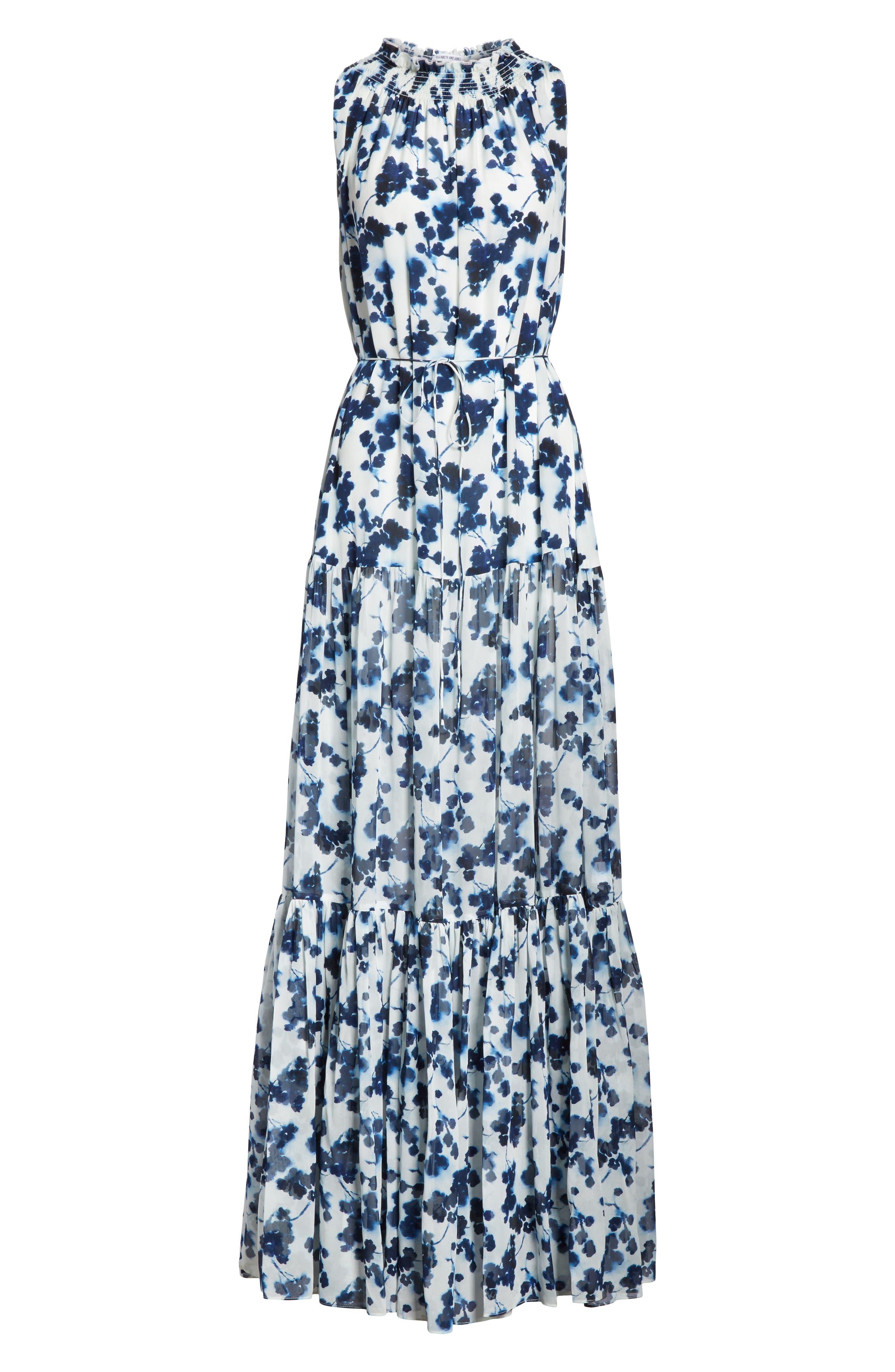 Lani P Floral Print Silk Dress,                             Alternate thumbnail 6, color,                             426