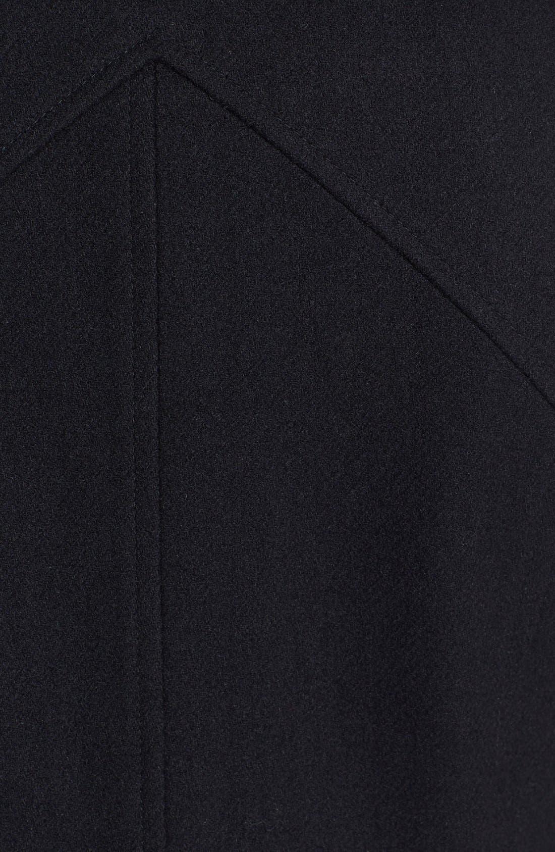 'Kit' Asymmetrical Wool Blend Coat,                             Alternate thumbnail 4, color,                             001
