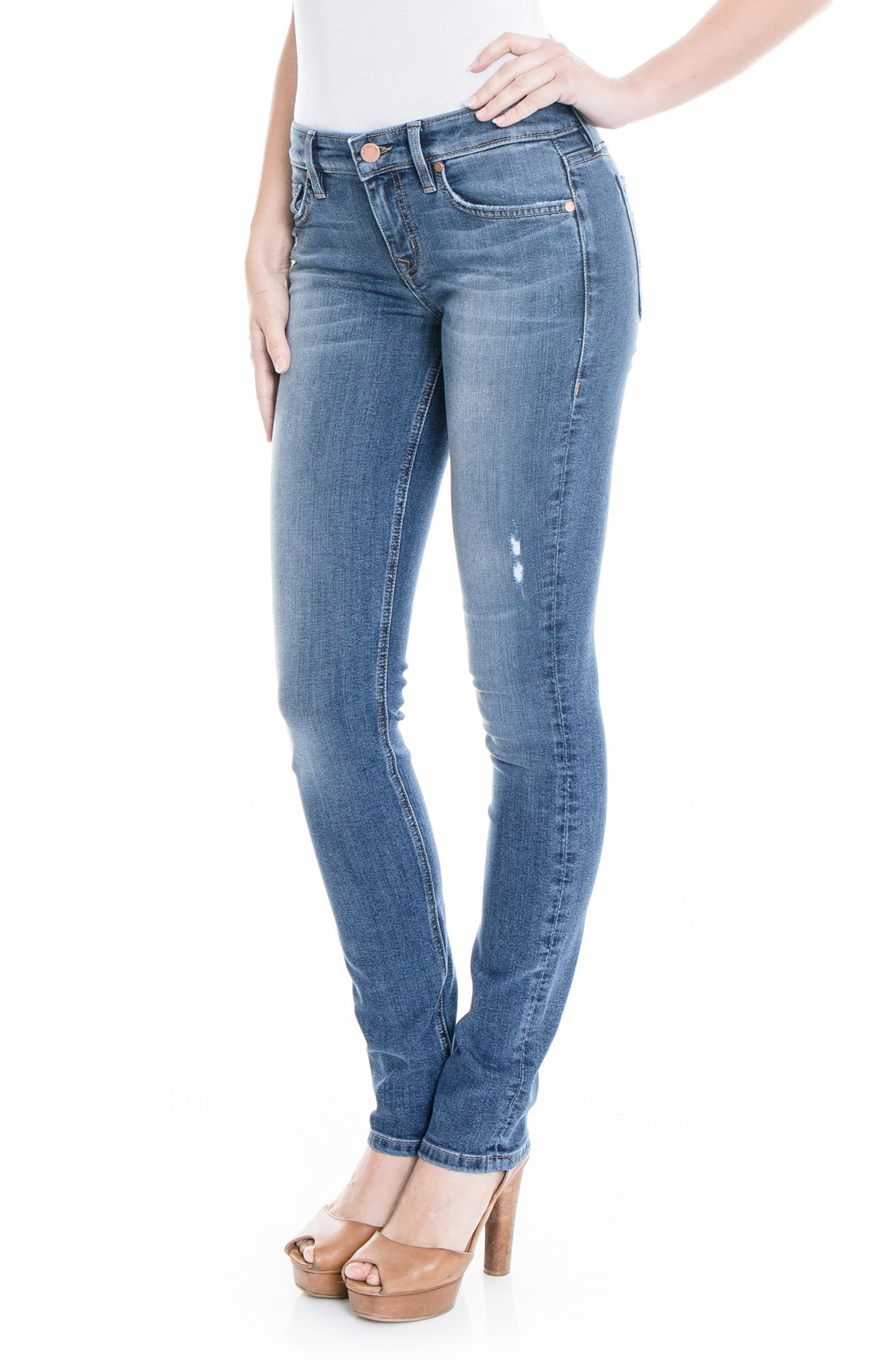 Lily Stretch Skinny Jeans,                             Alternate thumbnail 10, color,