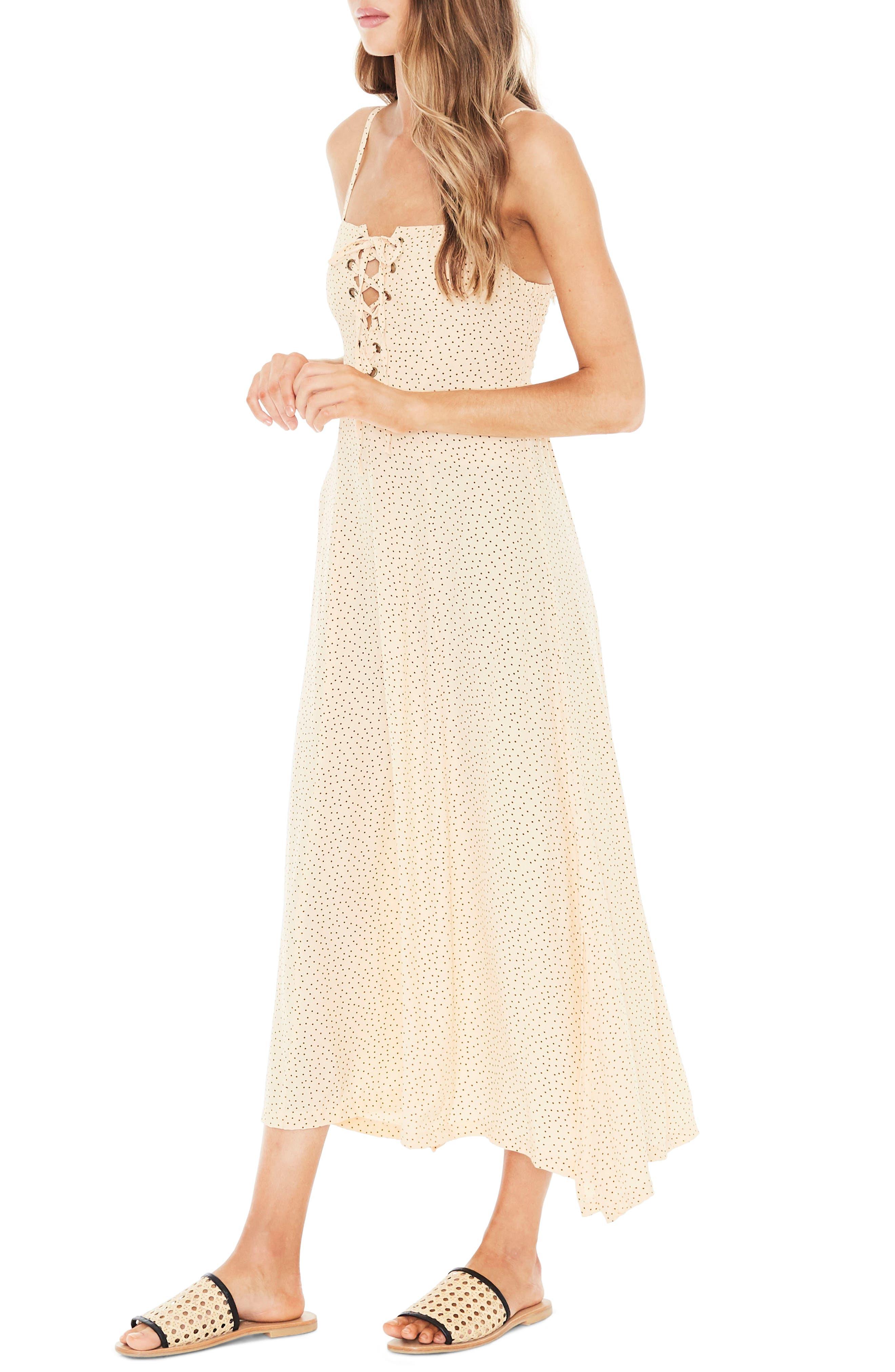 Mirador Lace-Up Midi Dress,                             Alternate thumbnail 3, color,                             900