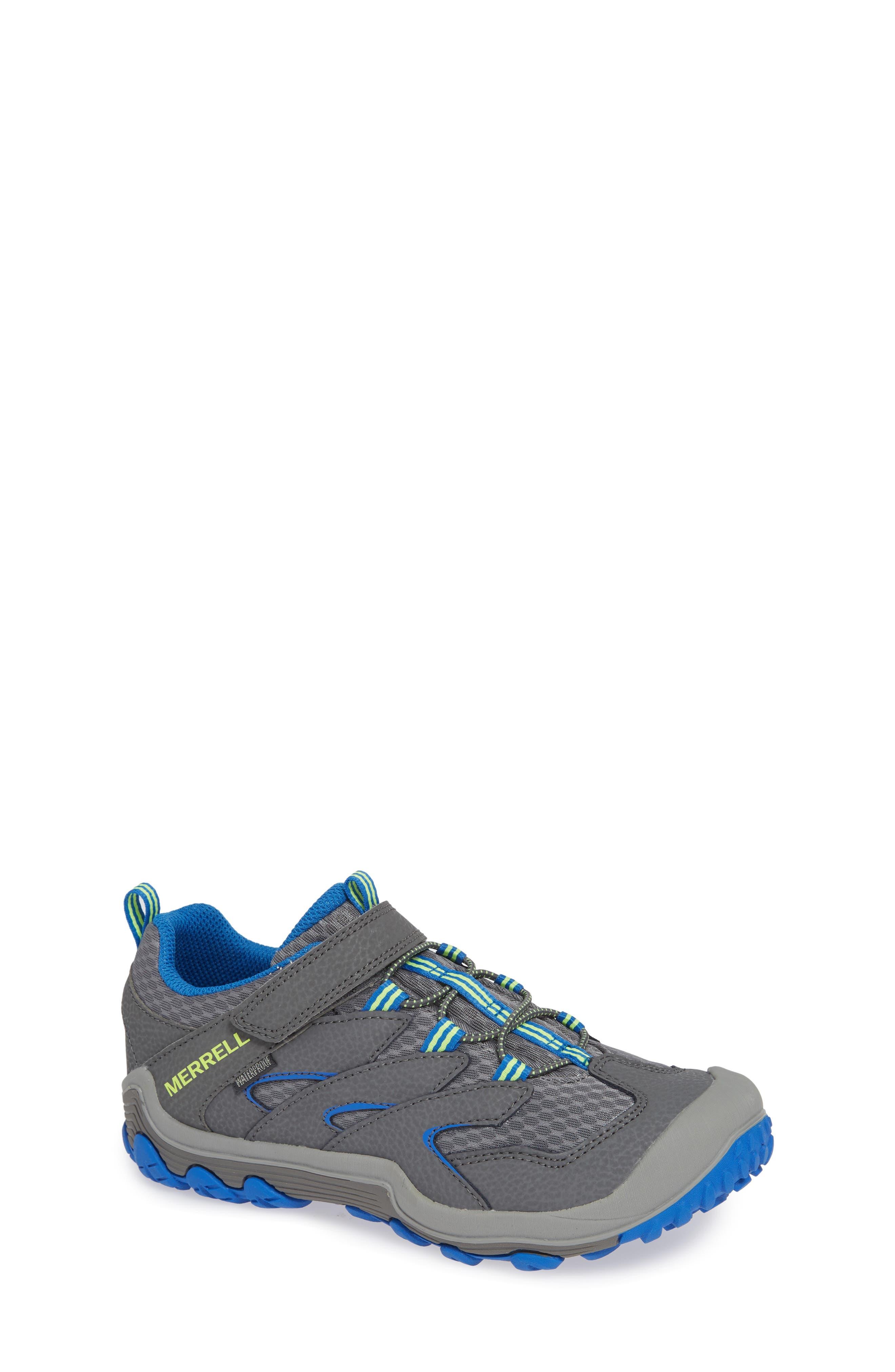 Girls Merrell Chameleon 7 Waterproof Sneaker Size 15 M  Grey