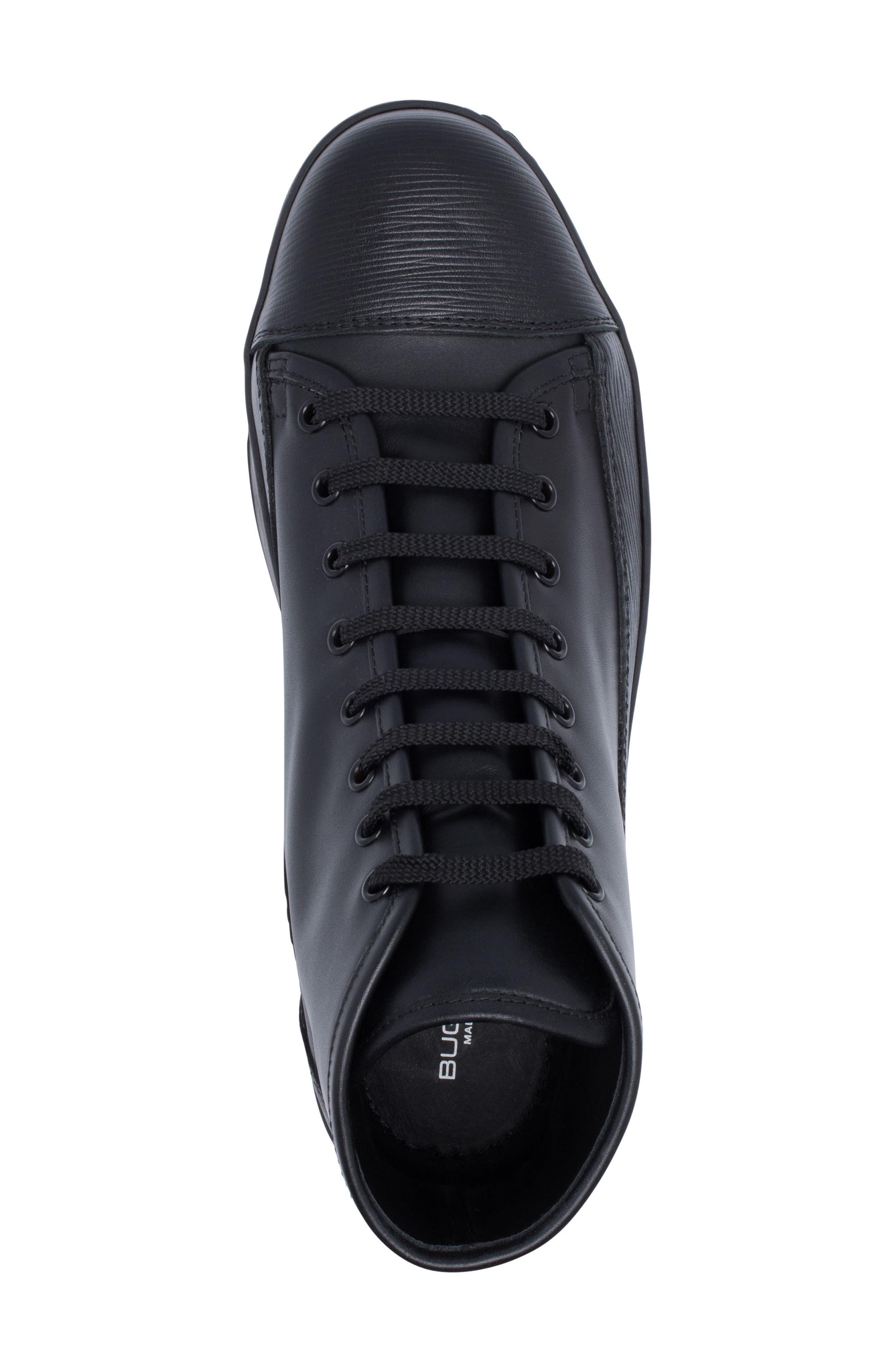 Livorno High Top Sneaker,                             Alternate thumbnail 5, color,                             NERO