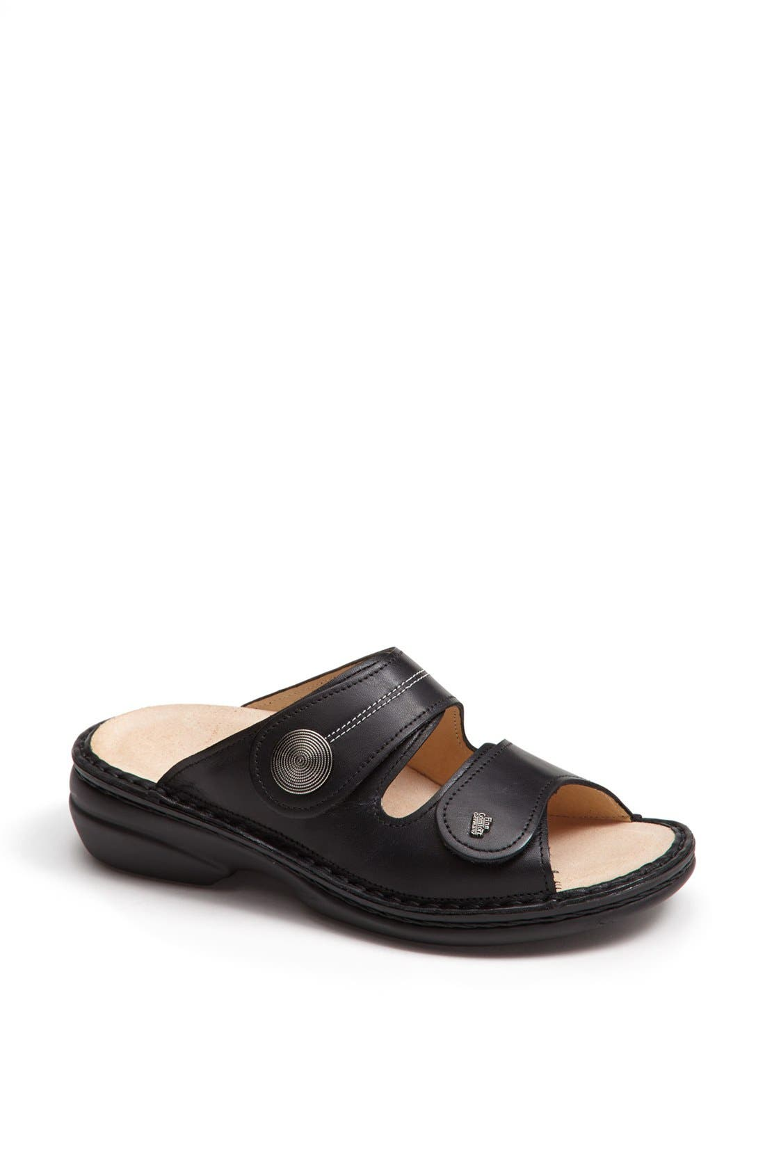 'Sansibar' Sandal,                             Main thumbnail 1, color,                             BLACK