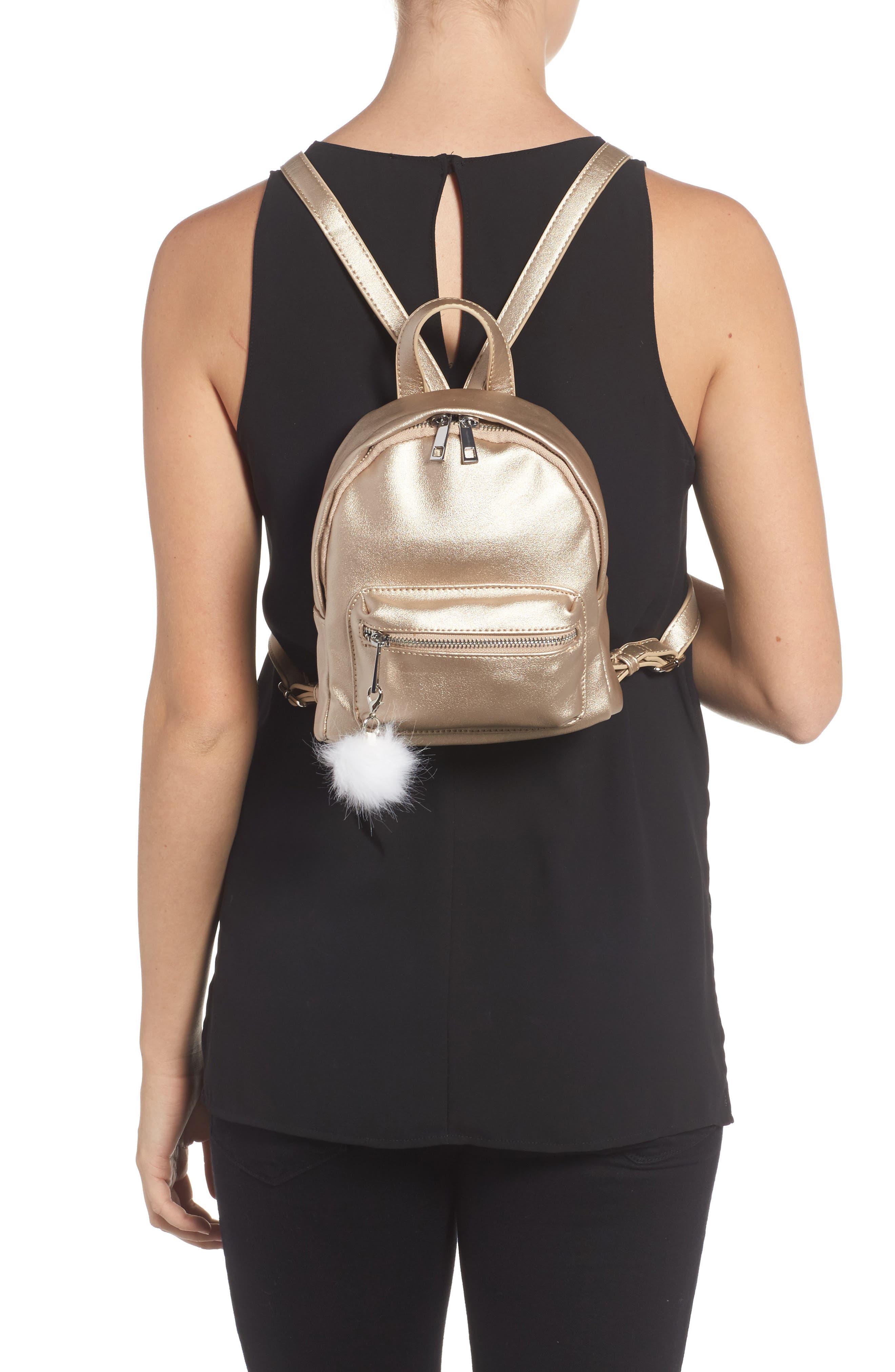 Faux Leather Mini Backpack,                             Alternate thumbnail 12, color,