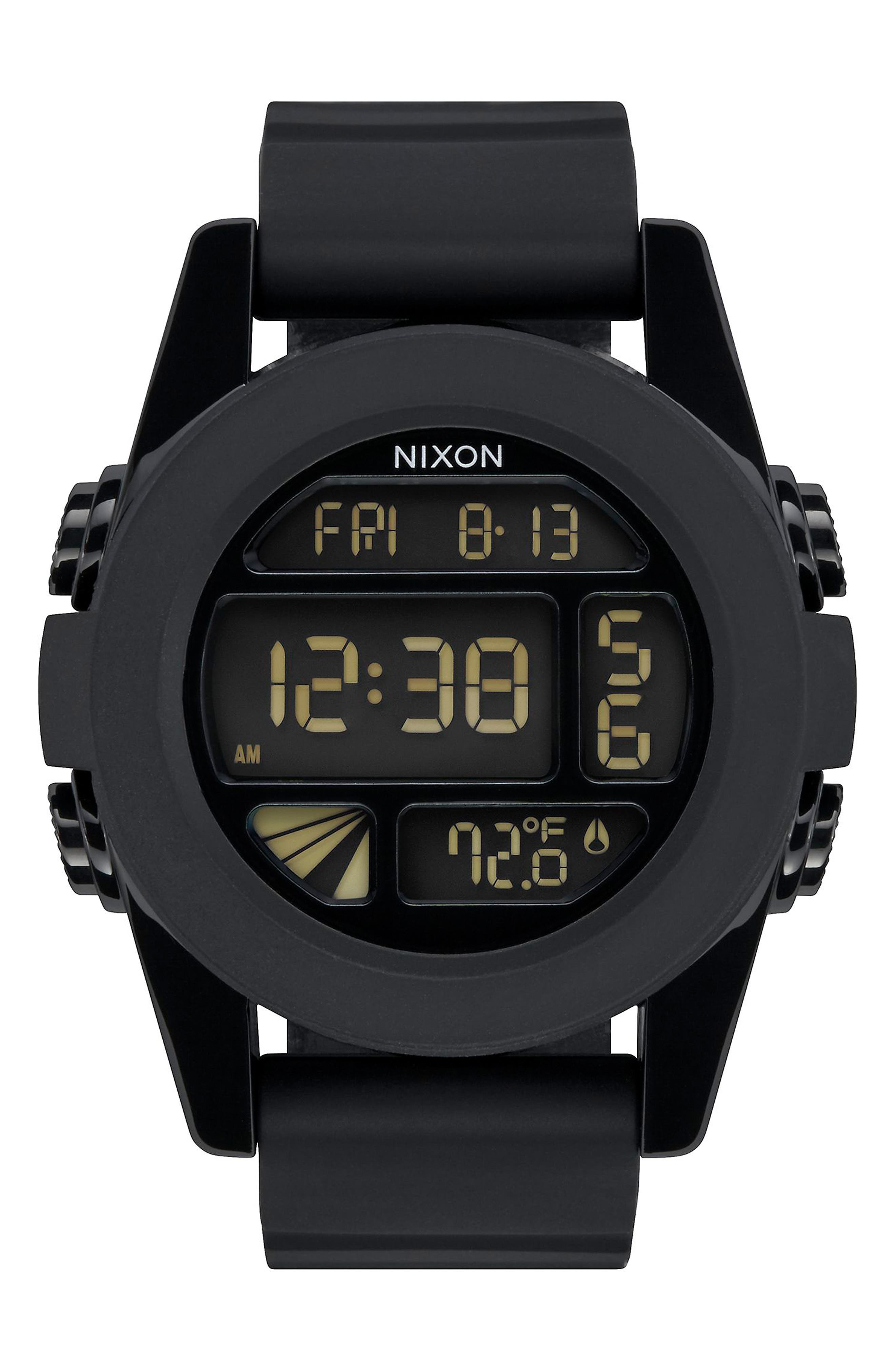 The Unit Digital Silicone Strap Watch, 44mm,                             Main thumbnail 4, color,