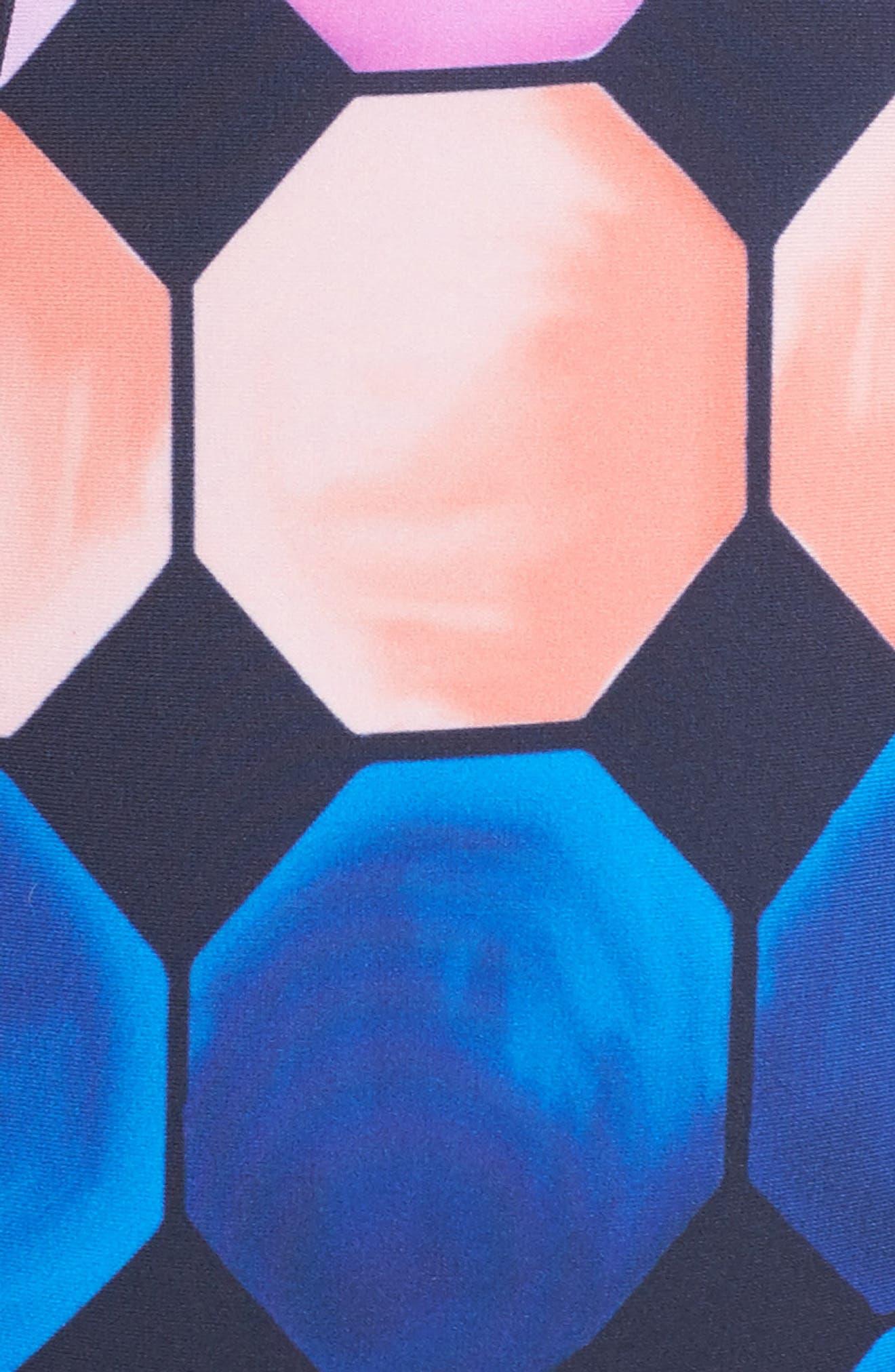 Marina Mosaic Convertible One-Piece Swimsuit,                             Alternate thumbnail 5, color,                             410