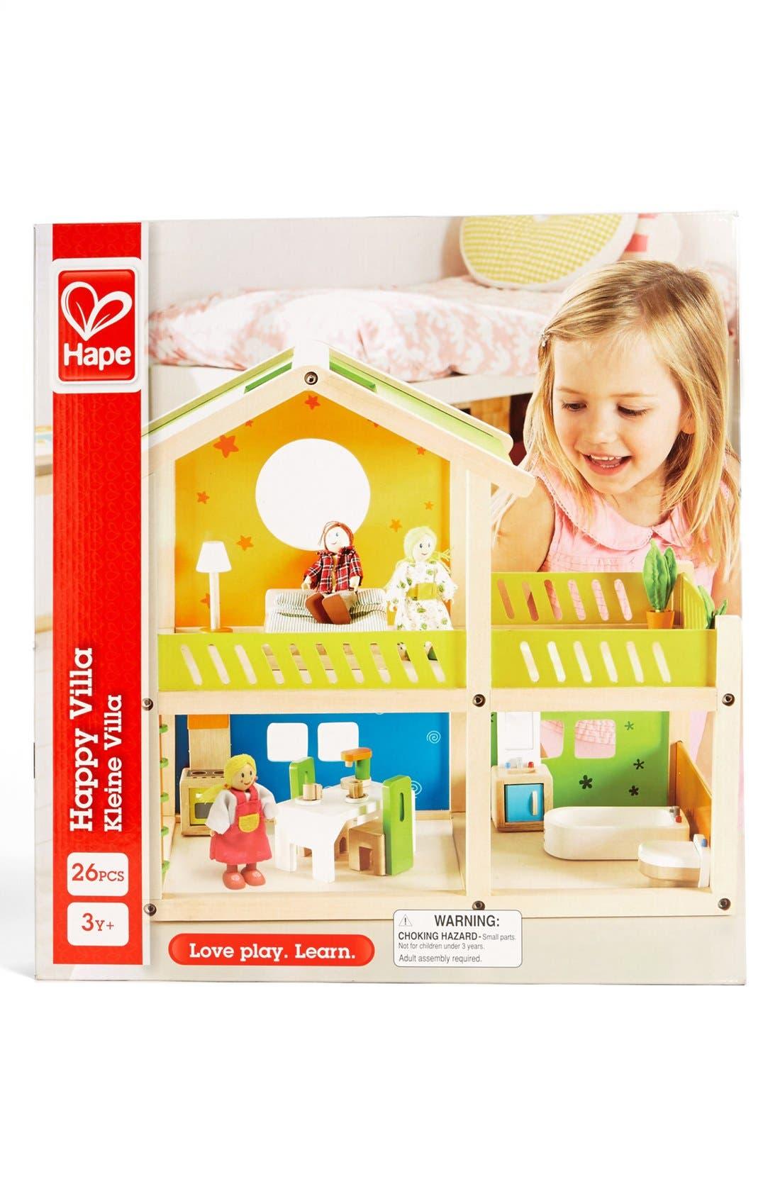 'Happy Villa' Wooden Dollhouse,                             Alternate thumbnail 2, color,                             000