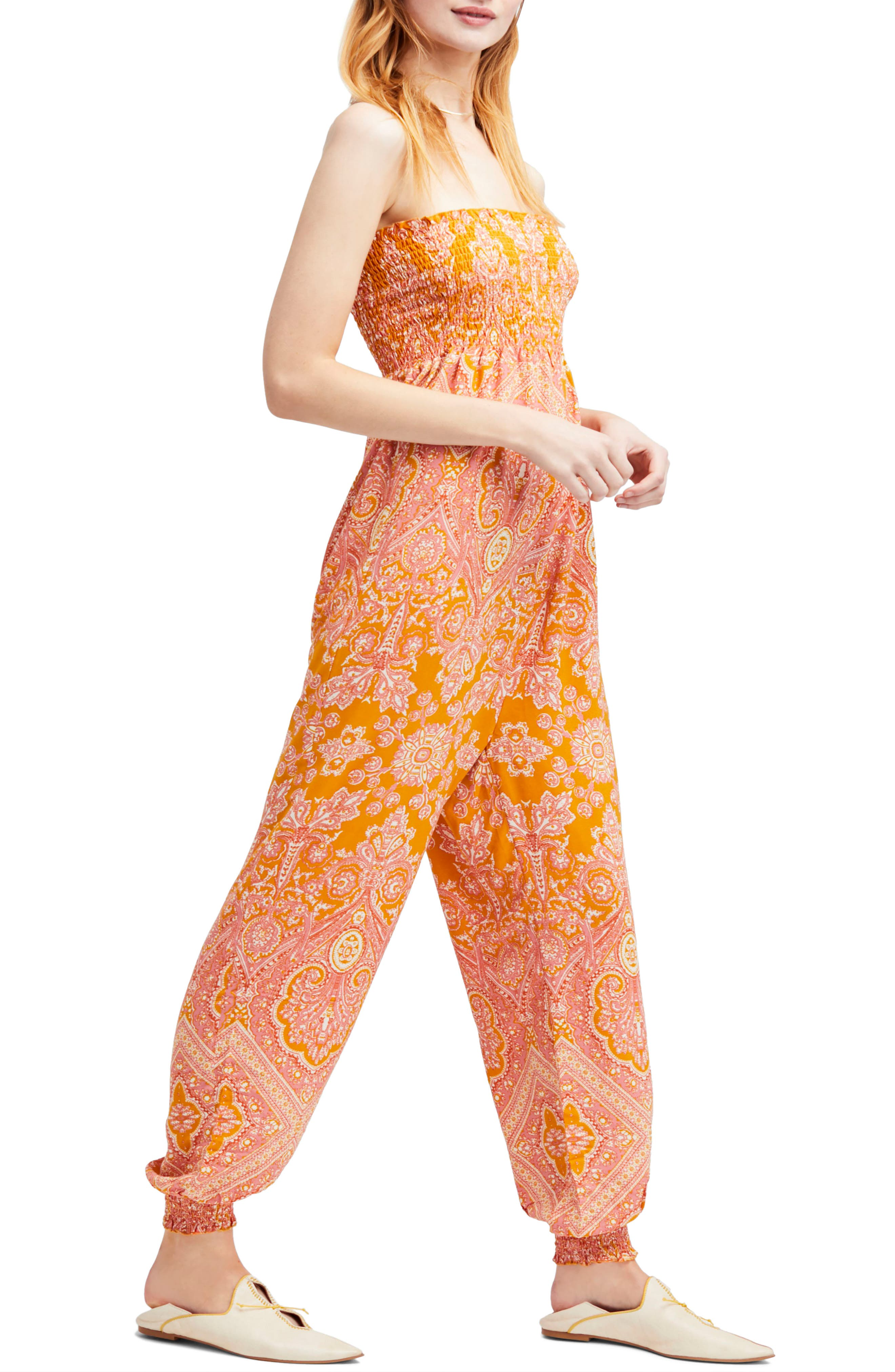 Thinking of You Smocked Jumpsuit,                             Main thumbnail 3, color,