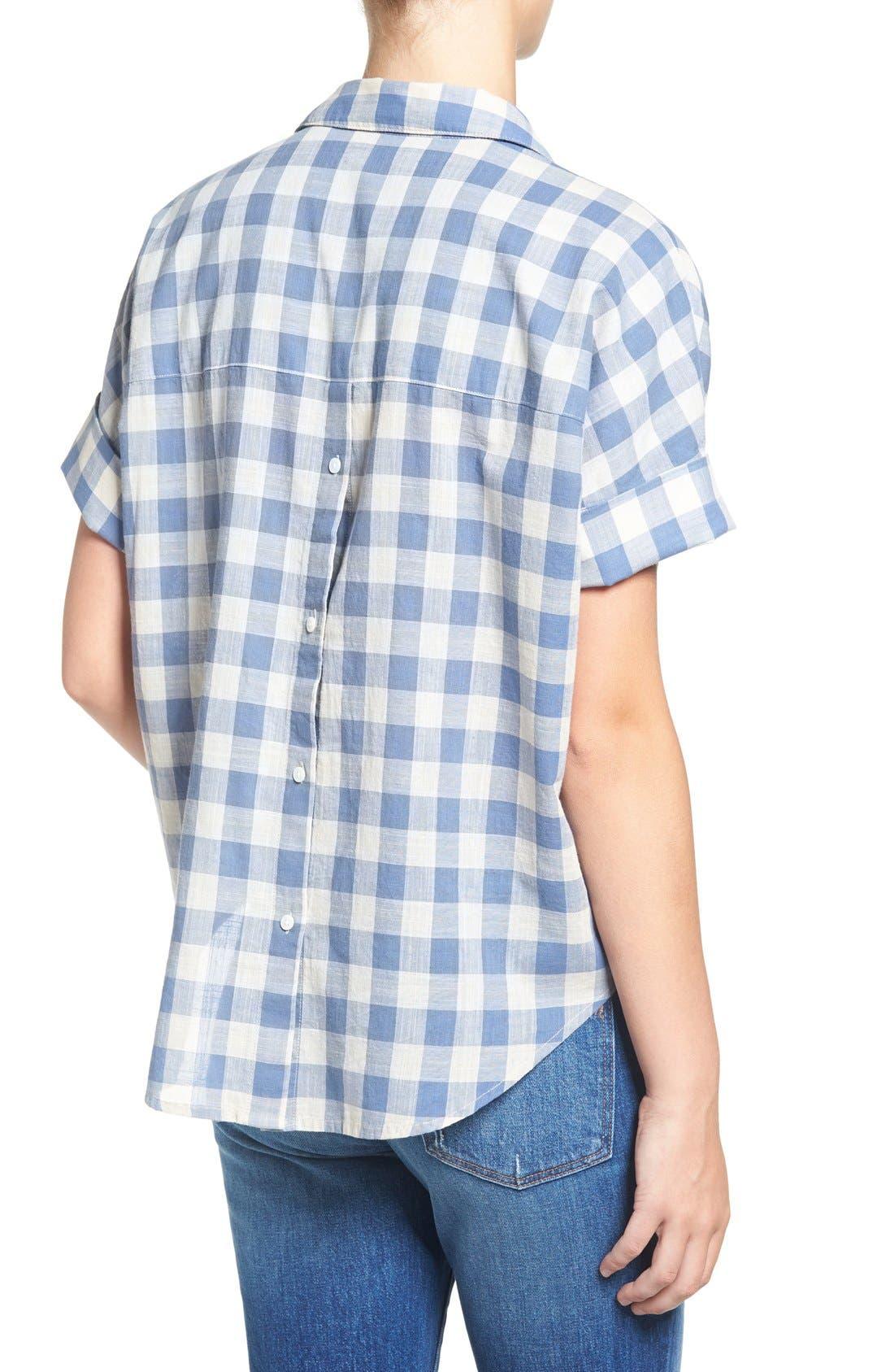 'Courier' Back Button Shirt,                             Alternate thumbnail 2, color,                             408