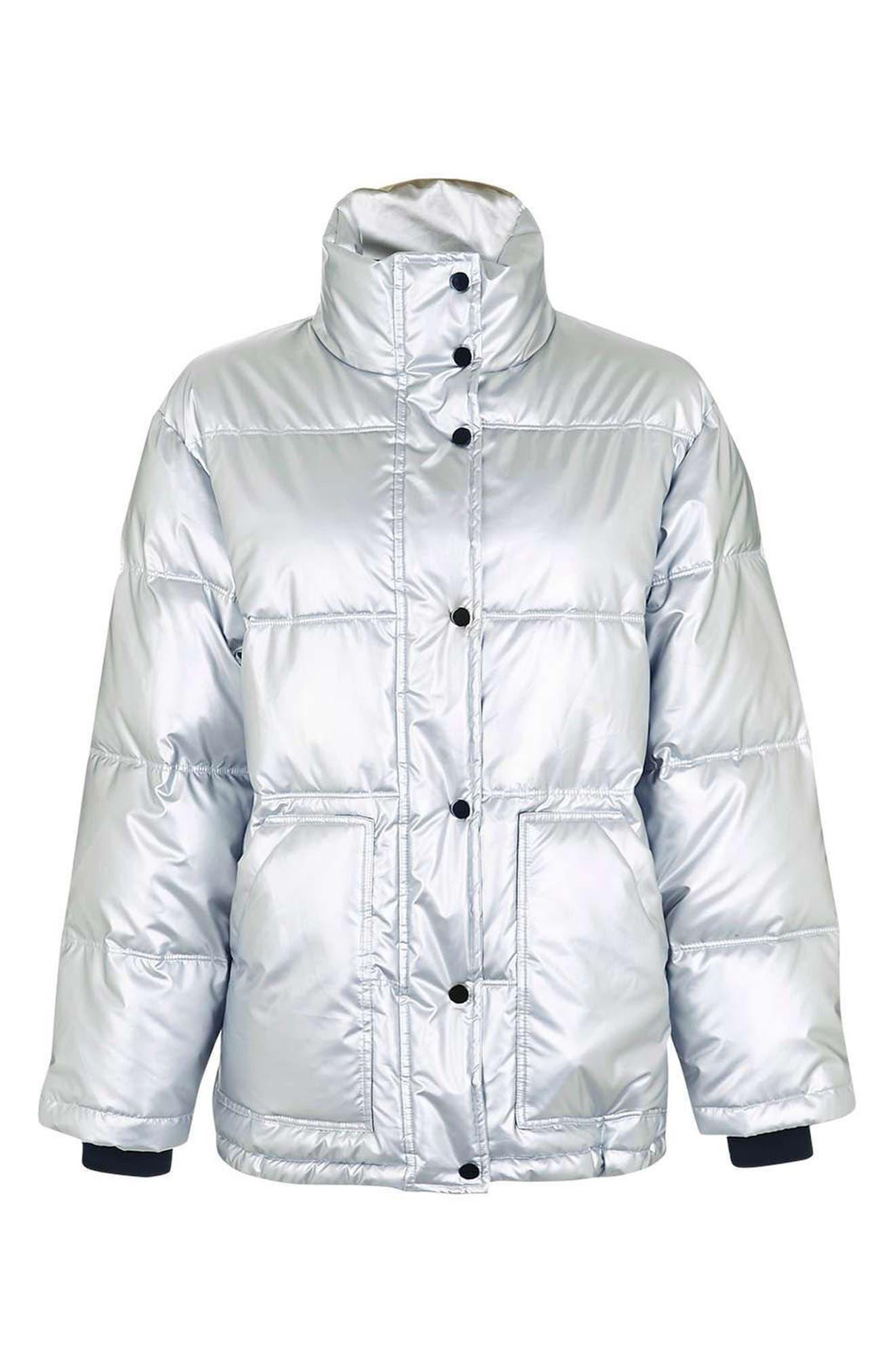 Bianca Metallic Puffer Jacket,                             Alternate thumbnail 4, color,                             040