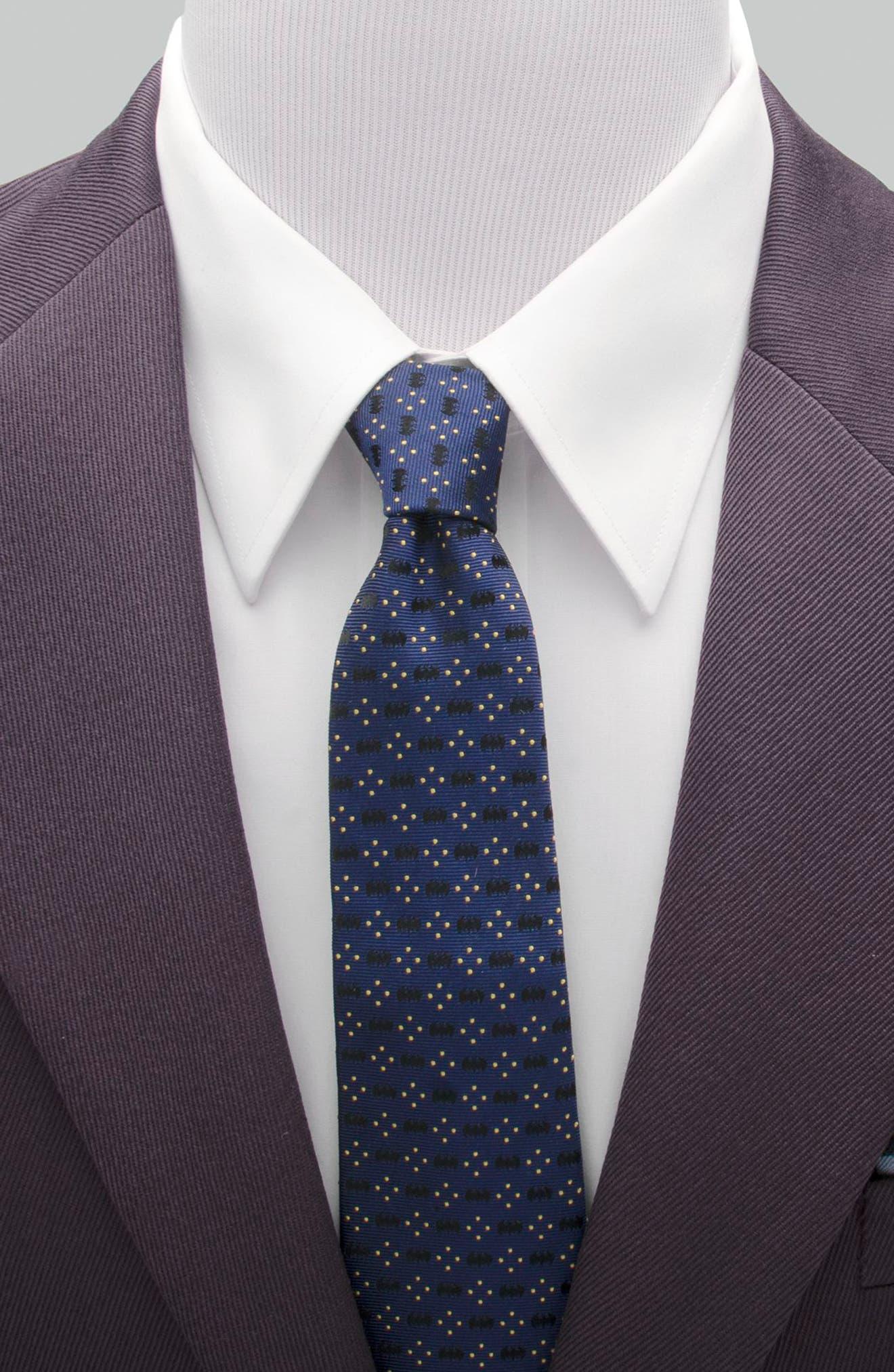Batman Diamond Dot Silk Tie,                             Alternate thumbnail 2, color,                             410