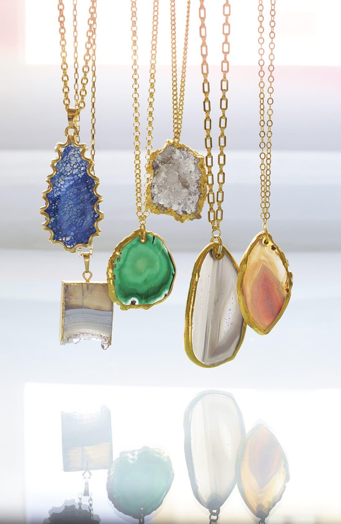 'Sorcerer's Stone' Long Teardrop Pendant Necklace,                             Alternate thumbnail 3, color,                             400