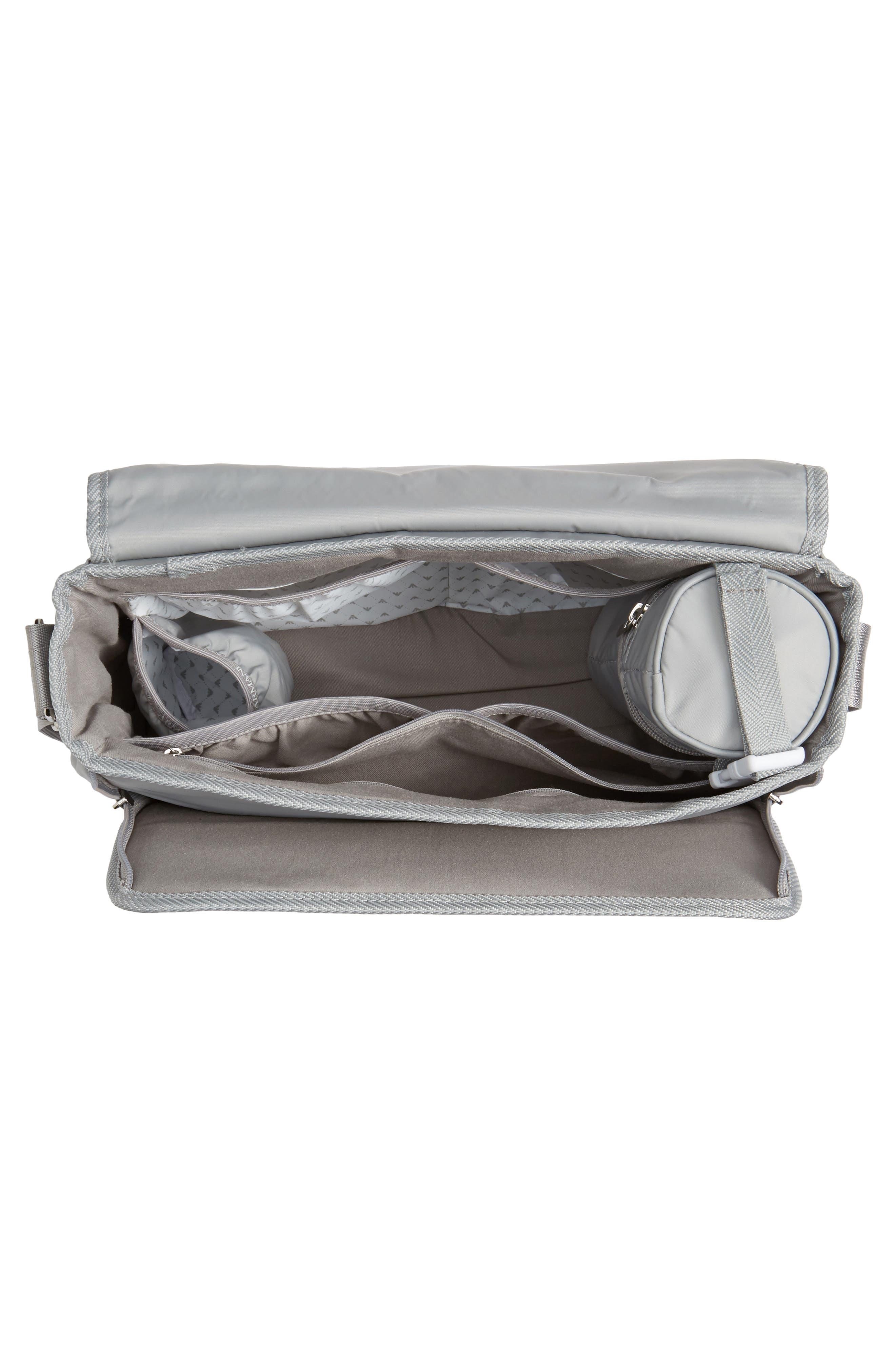 Nylon Messenger Diaper Bag,                             Alternate thumbnail 4, color,                             054