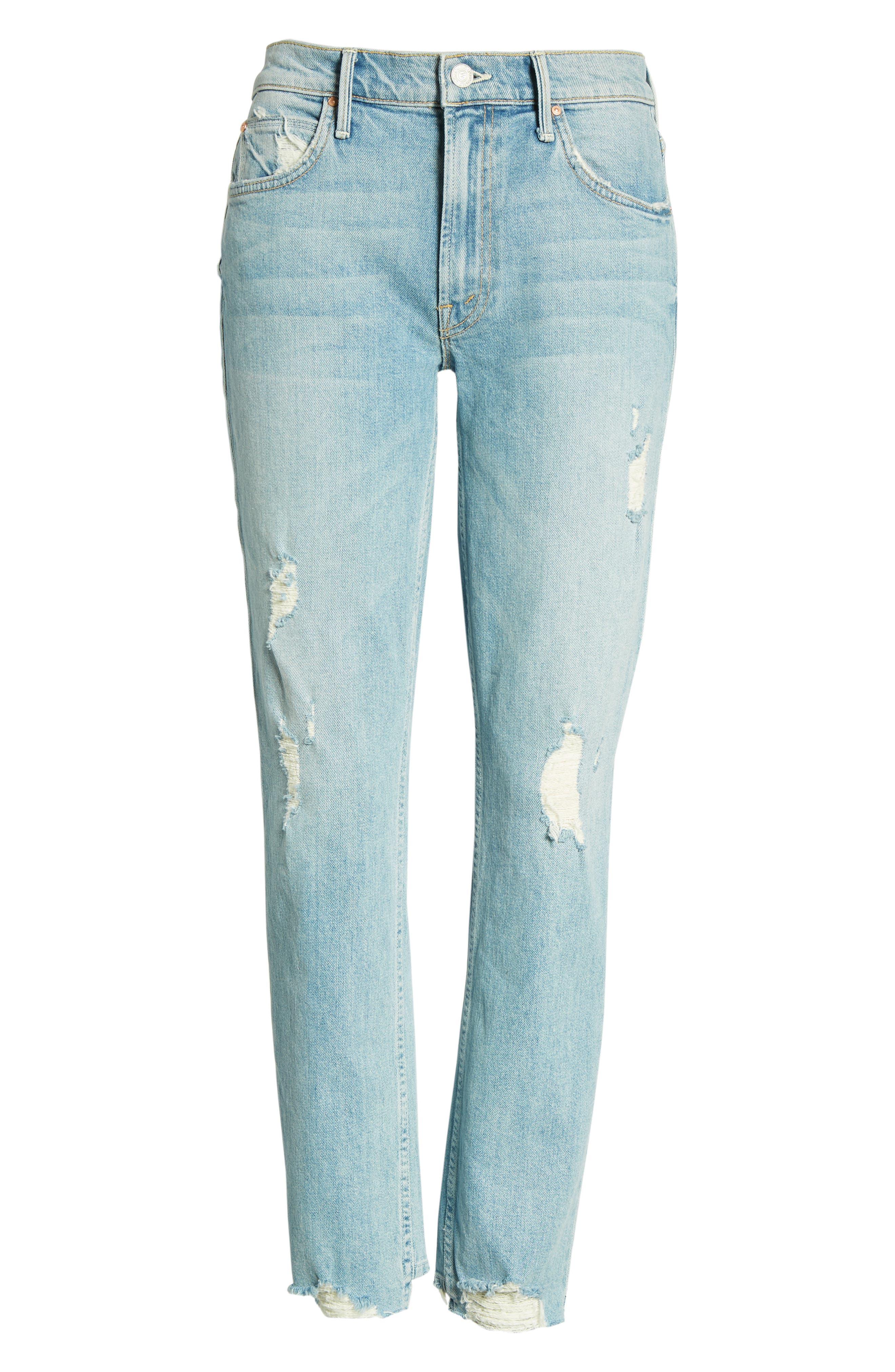 The Flirt Ankle Slim Jeans,                             Alternate thumbnail 7, color,                             400