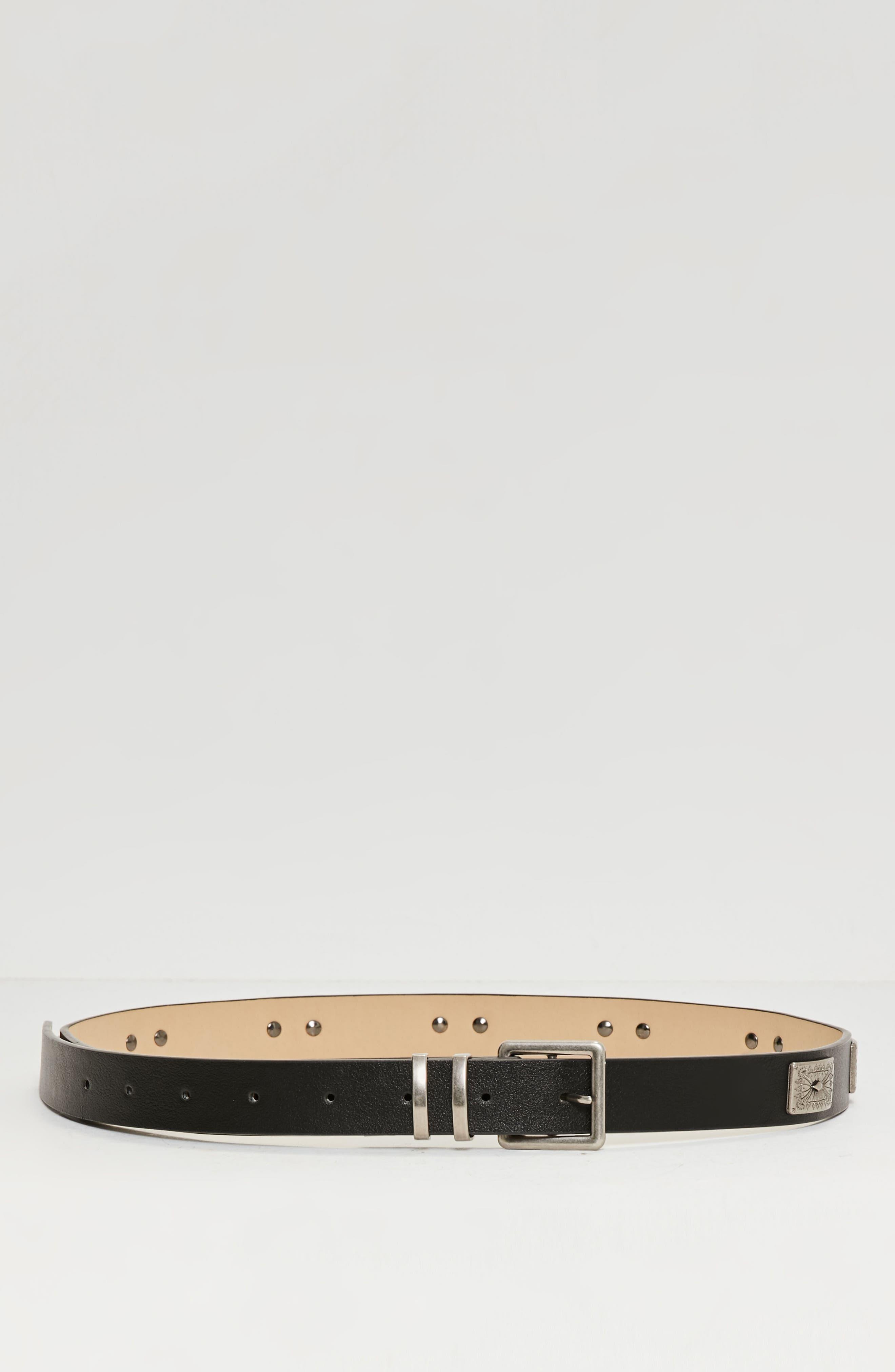 Western Faux Leather Belt,                             Alternate thumbnail 3, color,                             001