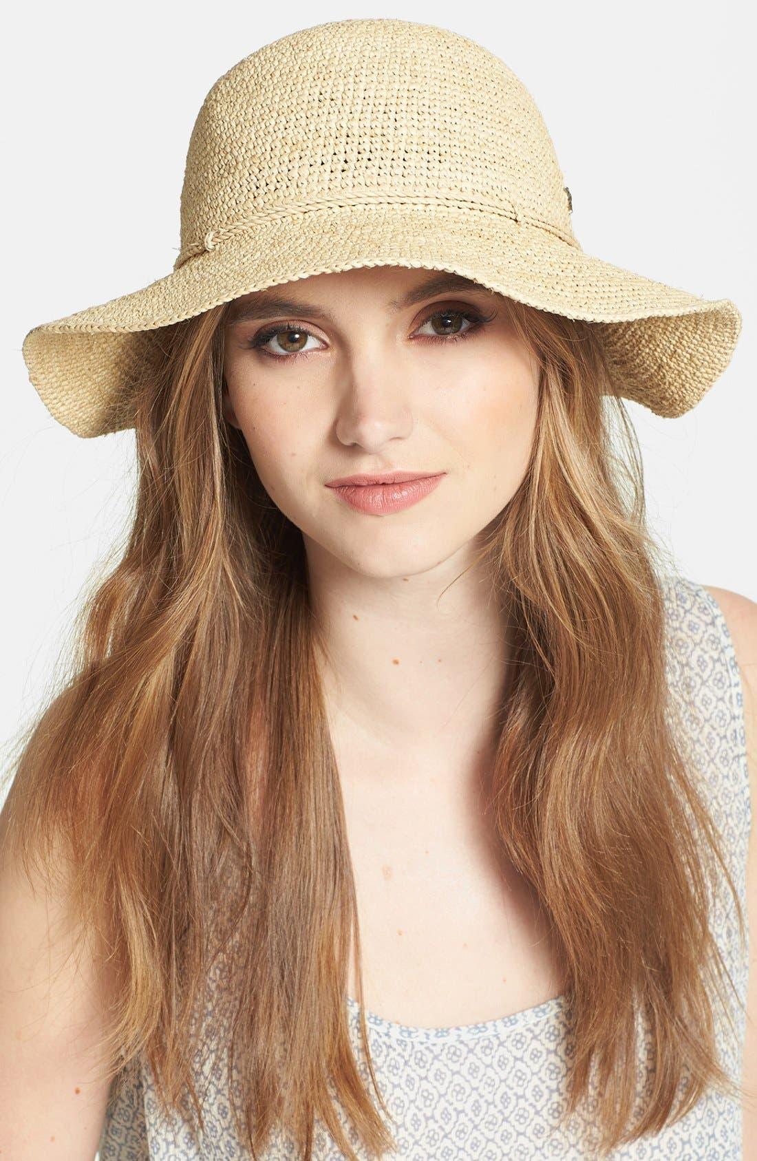 'Caicos' Raffia Hat,                             Main thumbnail 1, color,                             250