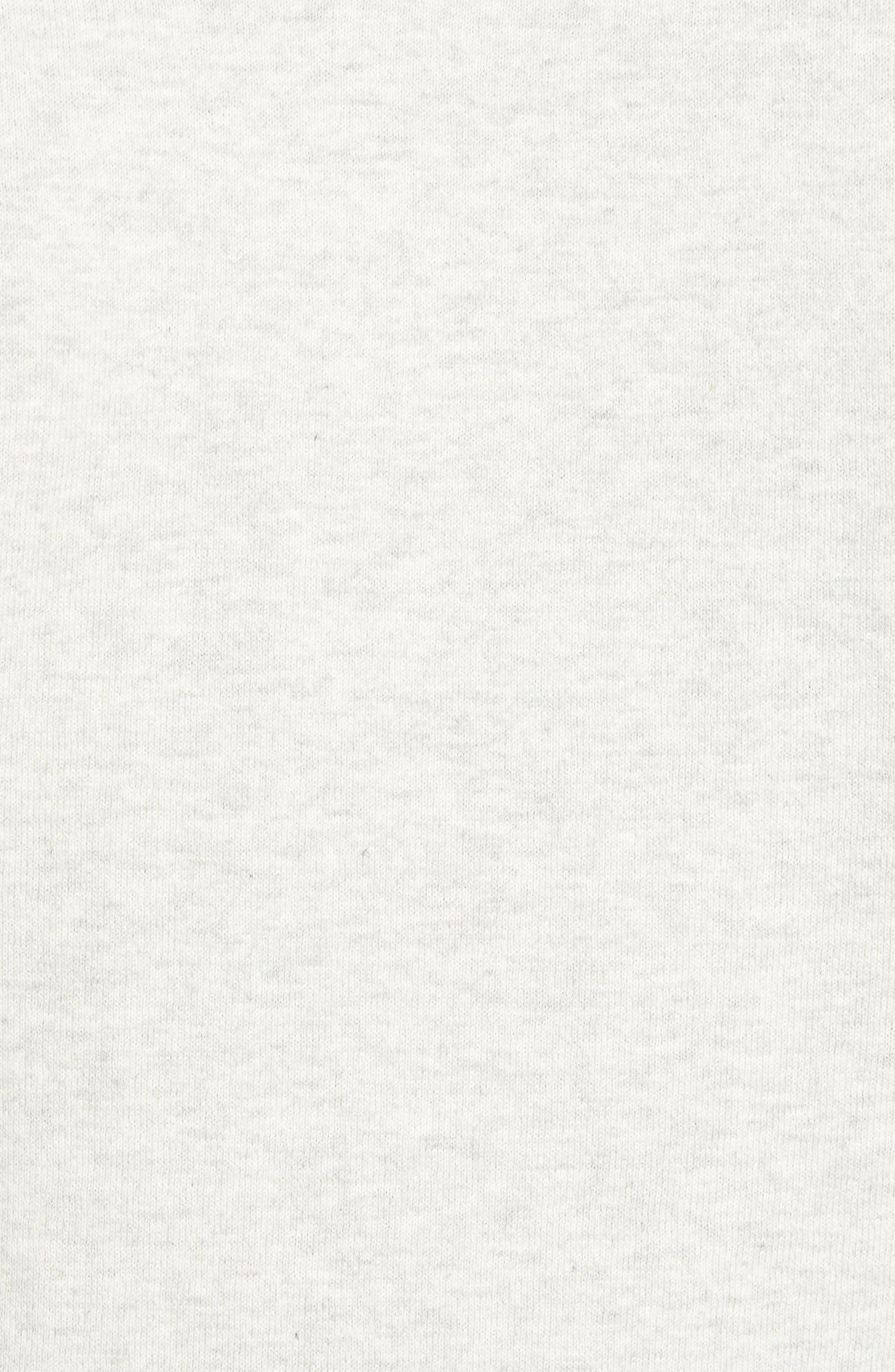 Crewneck Sweatshirt,                             Alternate thumbnail 5, color,                             BONE WHITE MELANGE