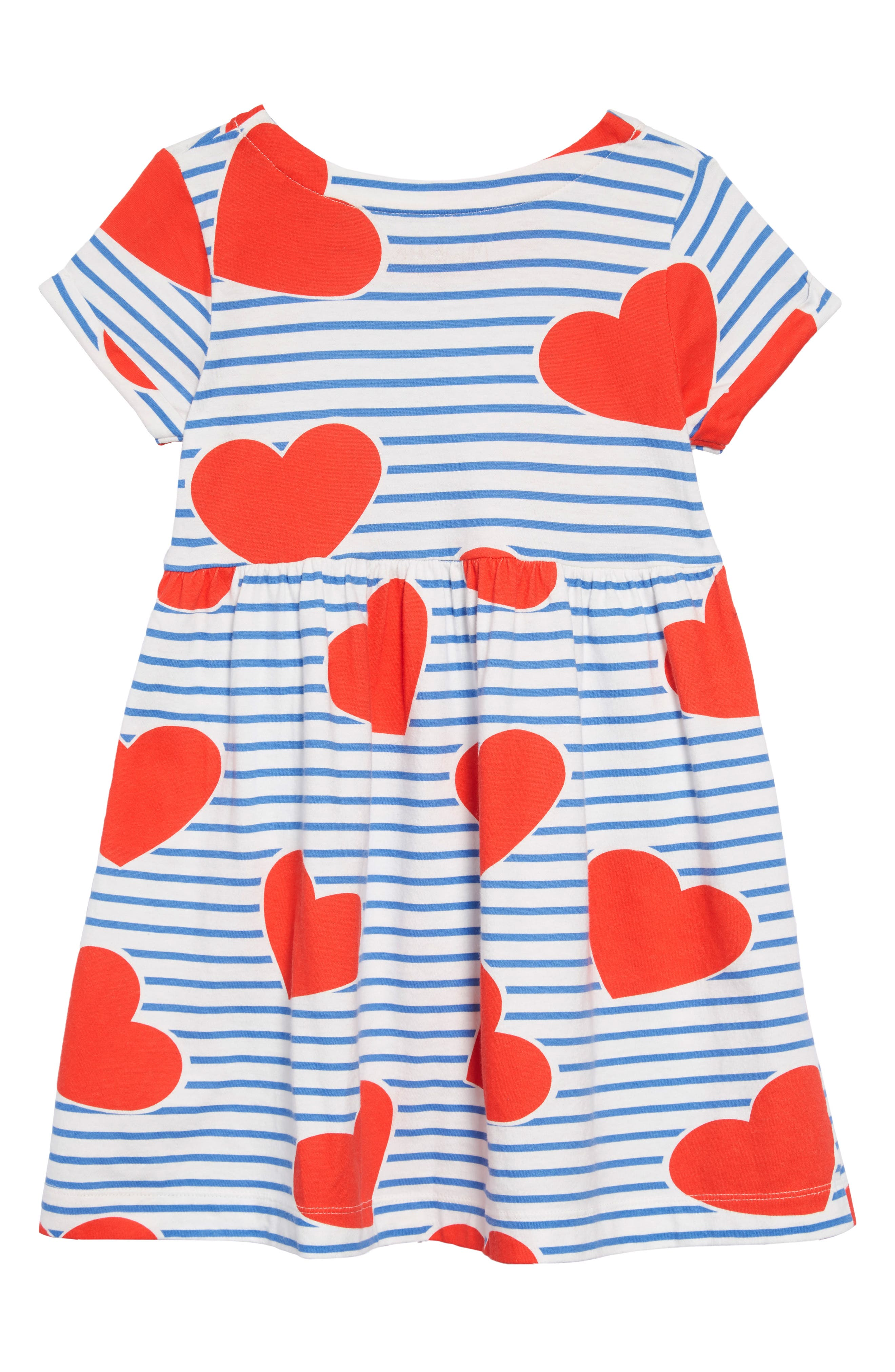Print Jersey Dress,                             Alternate thumbnail 2, color,                             ELIZABETH BLUE/ SRIPE HEARTS