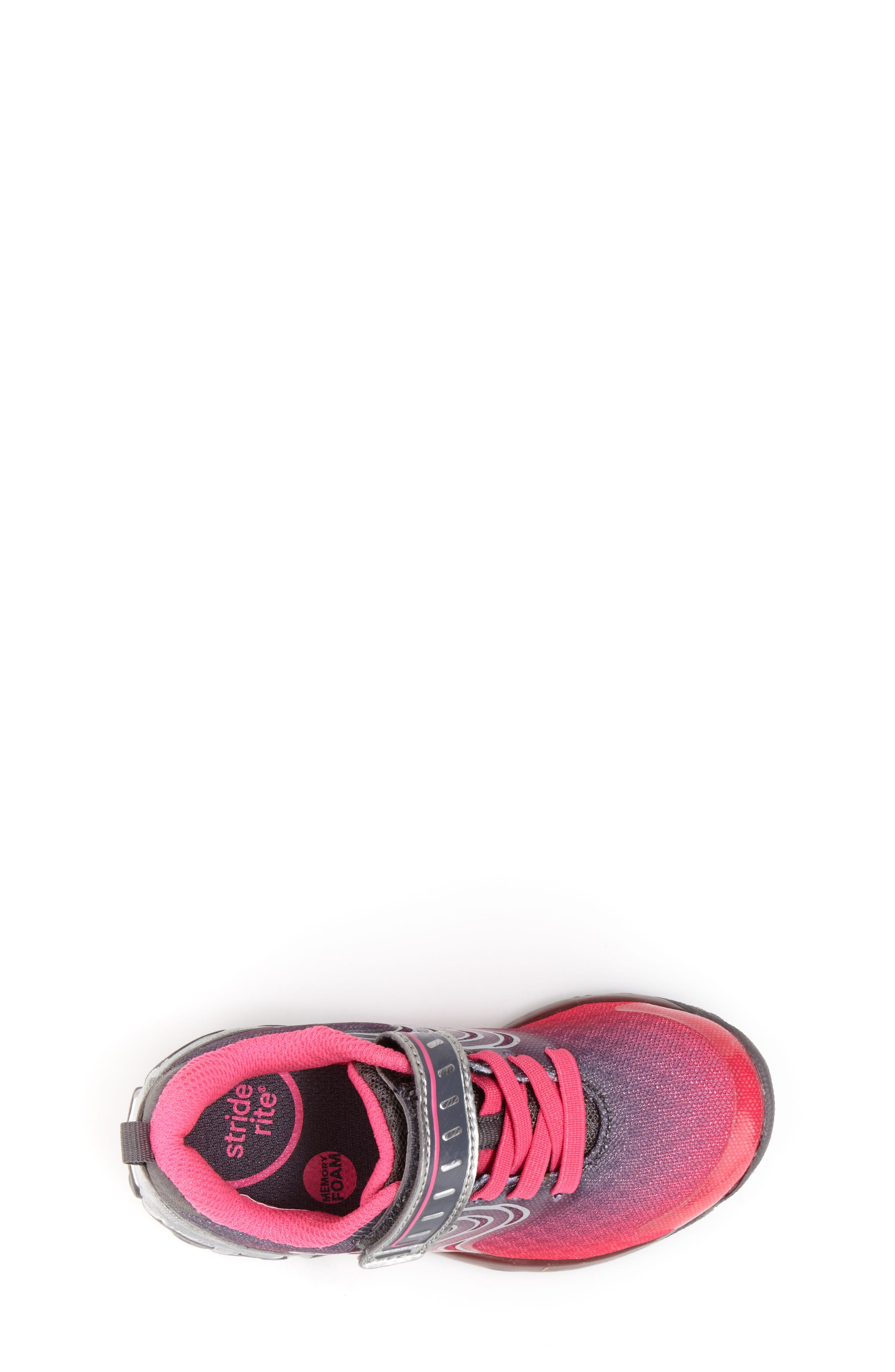 Lights Lux Light-Up Sneaker,                             Alternate thumbnail 5, color,                             PINK SYNTHETIC/ TEXTILE