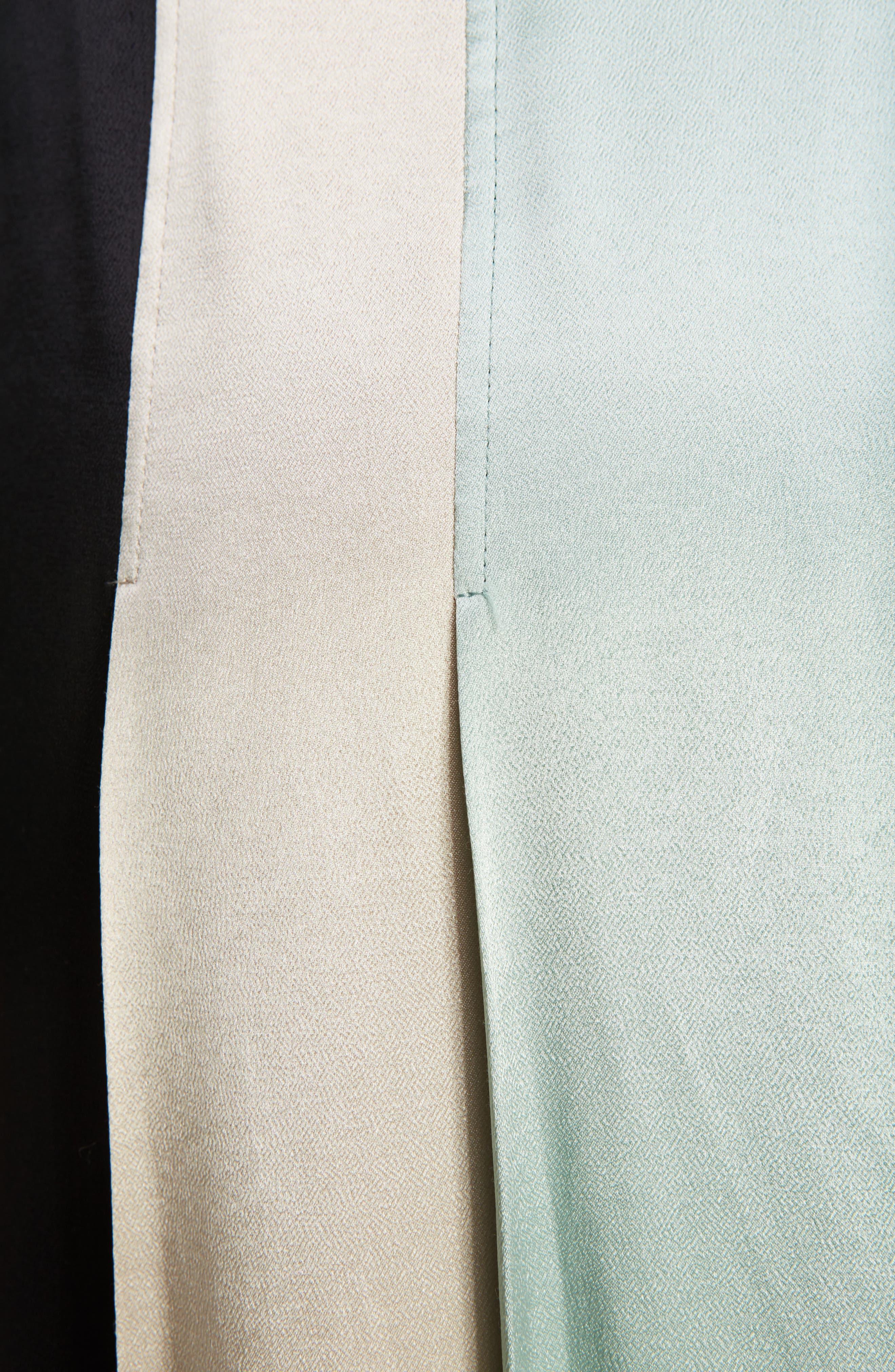 Pleated Satin Skirt,                             Alternate thumbnail 5, color,                             300