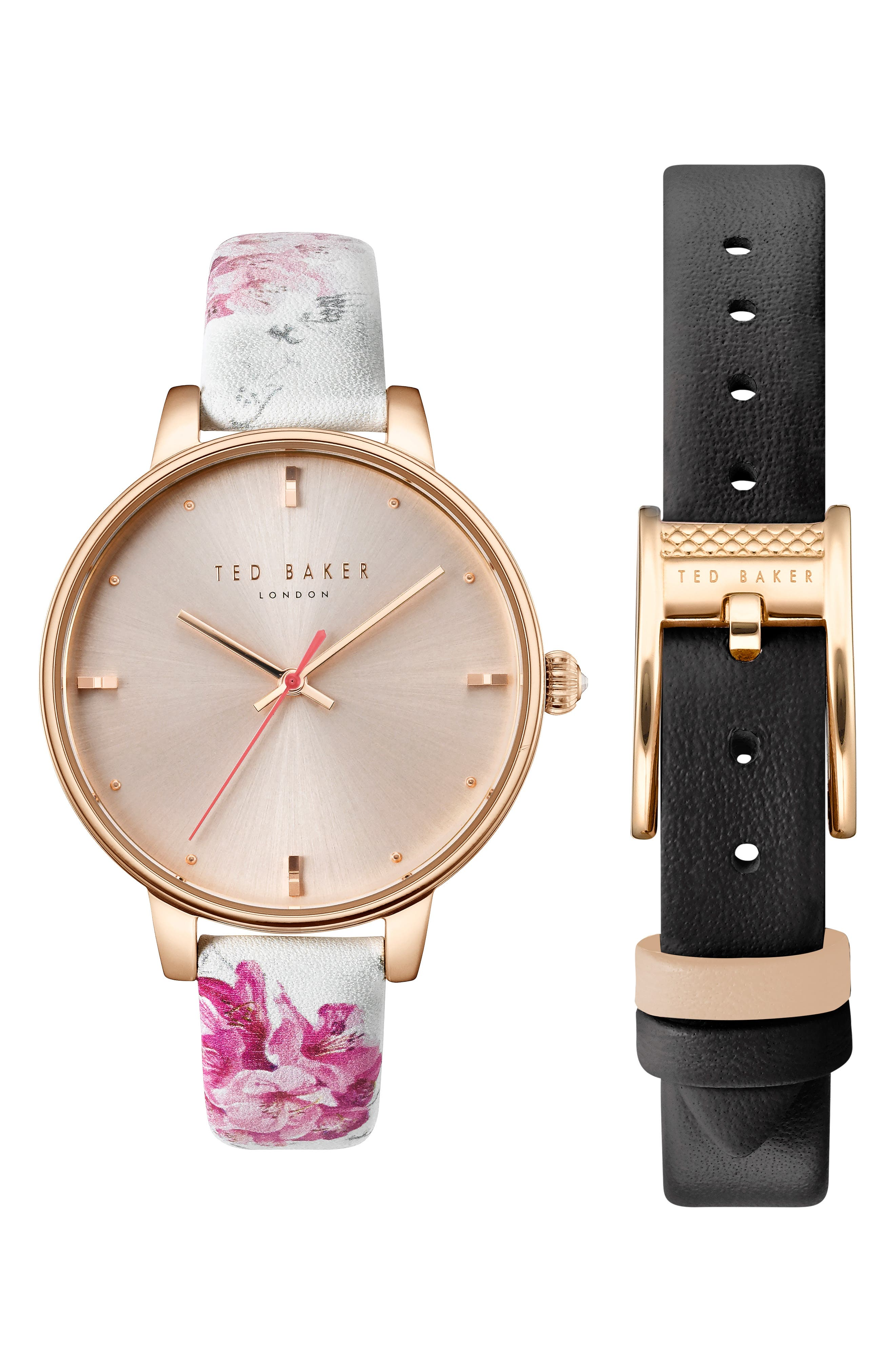 Ted Baker London Kate Leather Strap Watch Set,