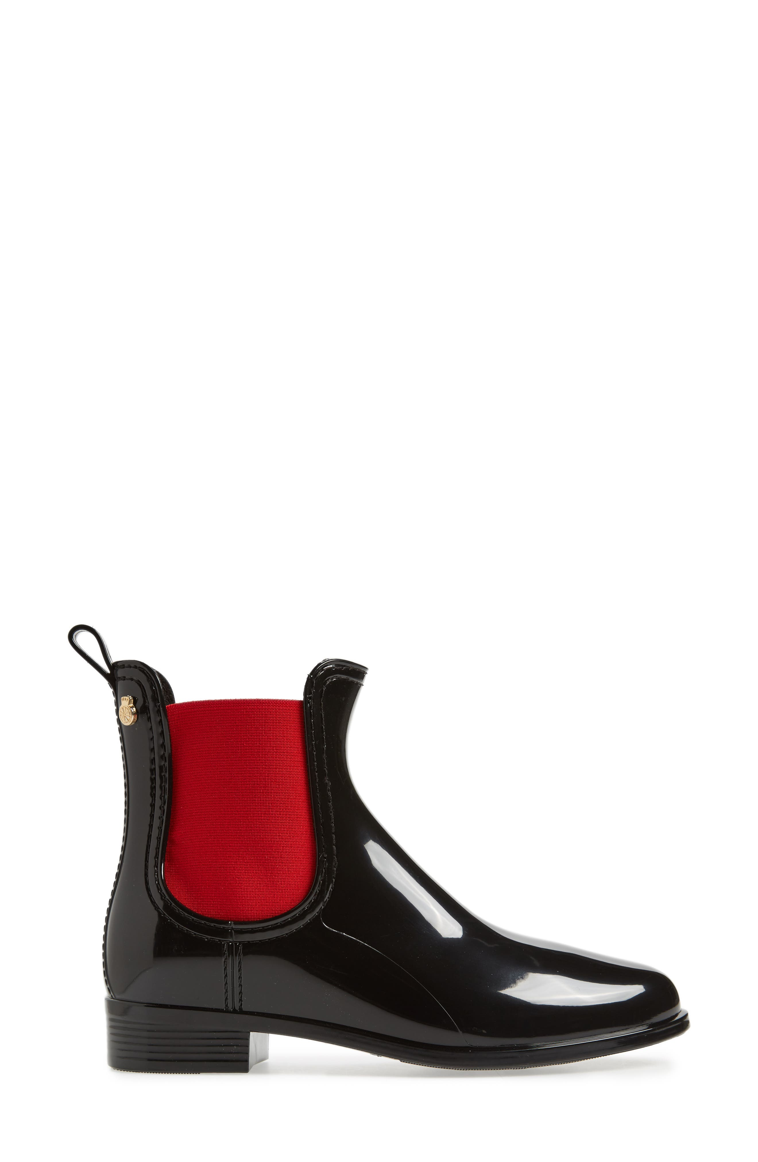 Pisa Waterproof Chelsea Boot,                             Alternate thumbnail 3, color,                             BLACK GLOSS