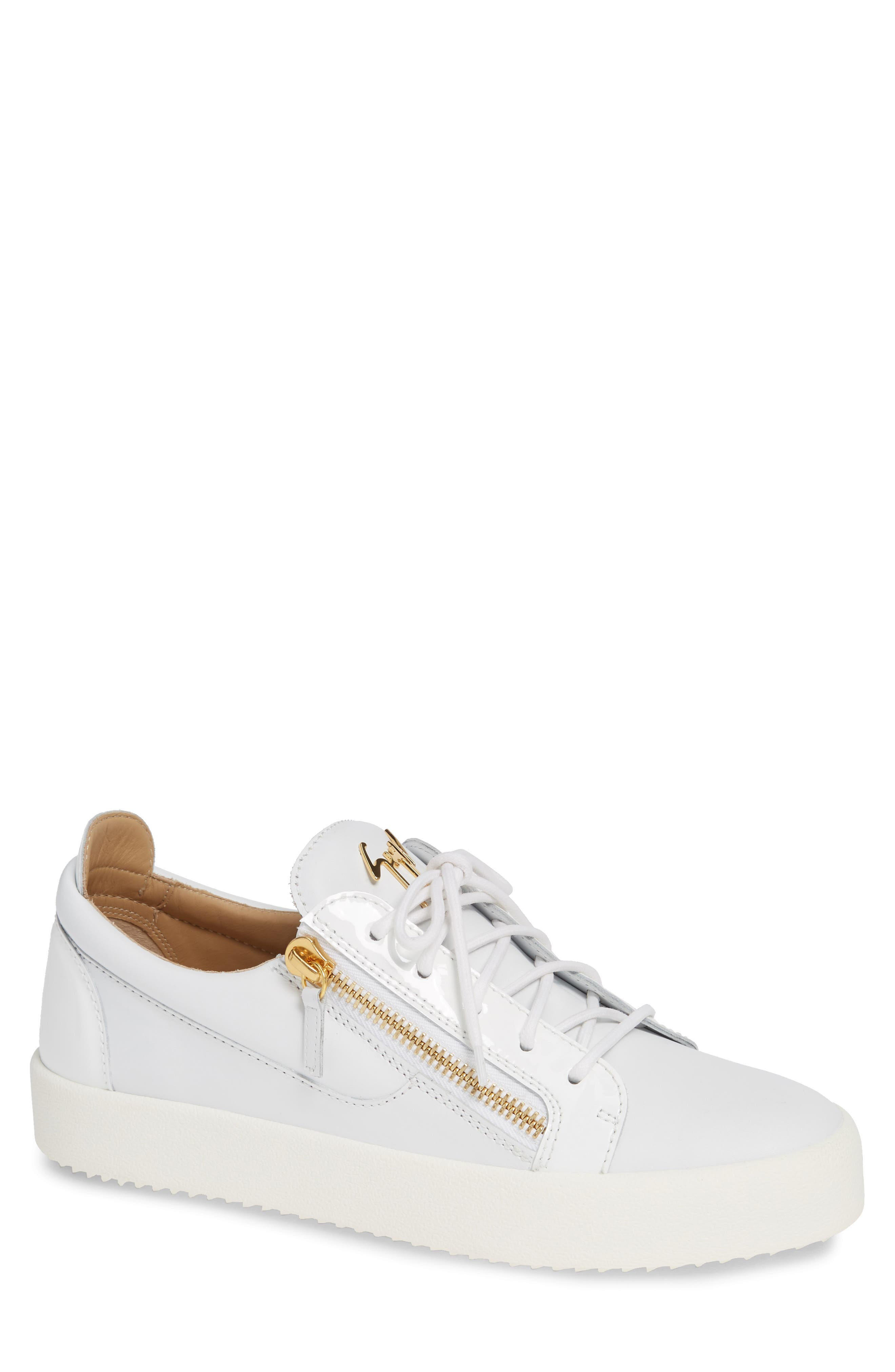 Low Top Sneaker,                             Main thumbnail 1, color,                             WHITE