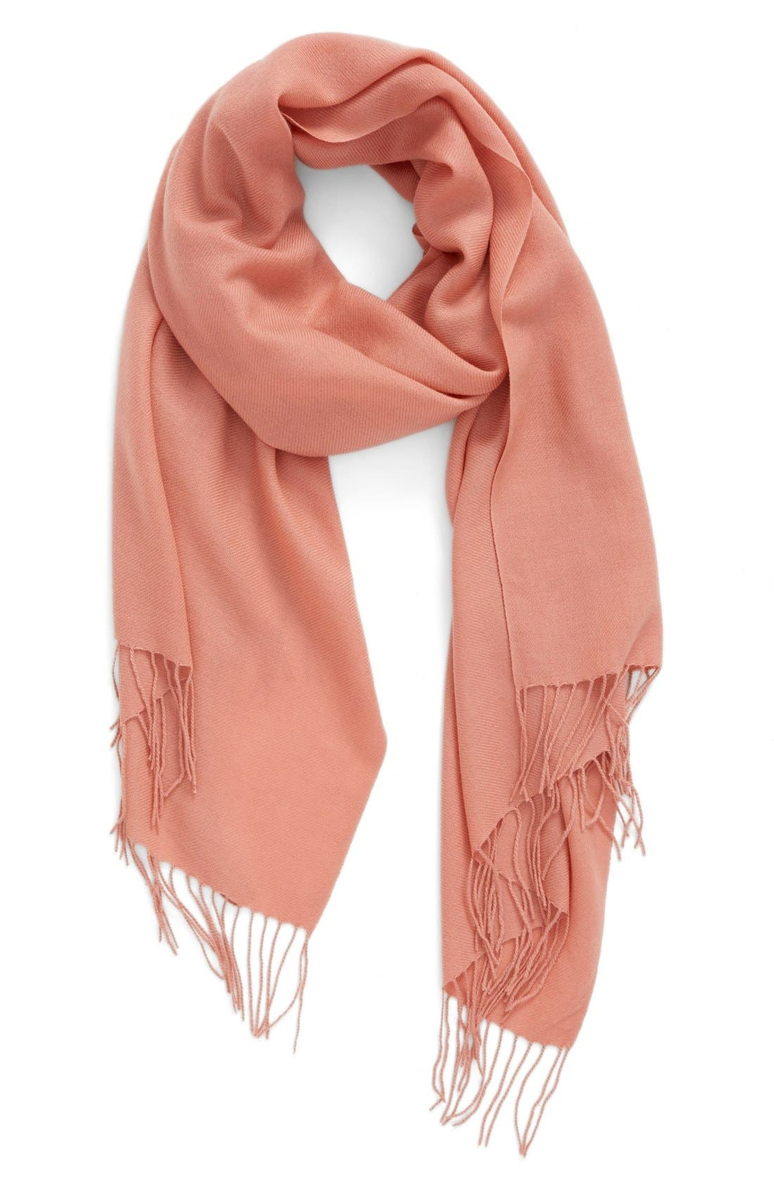 Tissue Weight Wool & Cashmere Scarf,                             Main thumbnail 64, color,