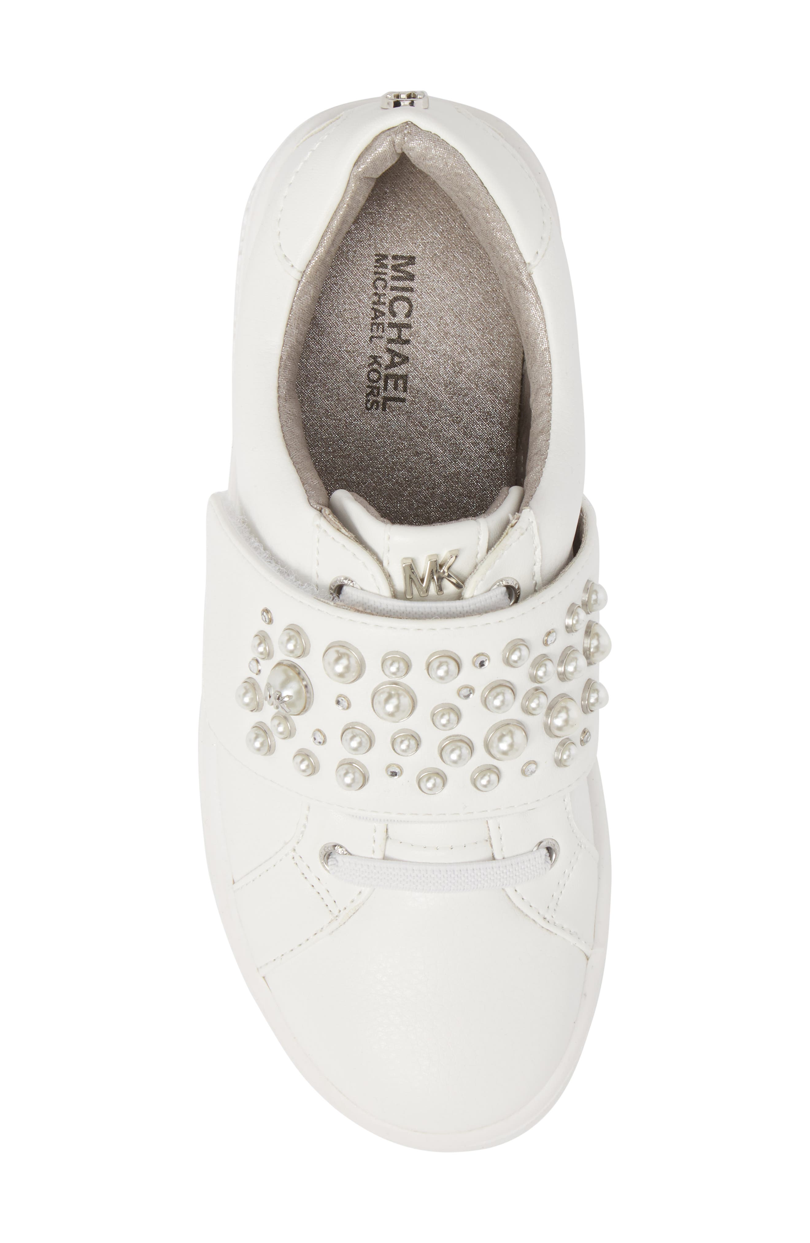Ivy Embellished Metallic Sneaker,                             Alternate thumbnail 5, color,                             100