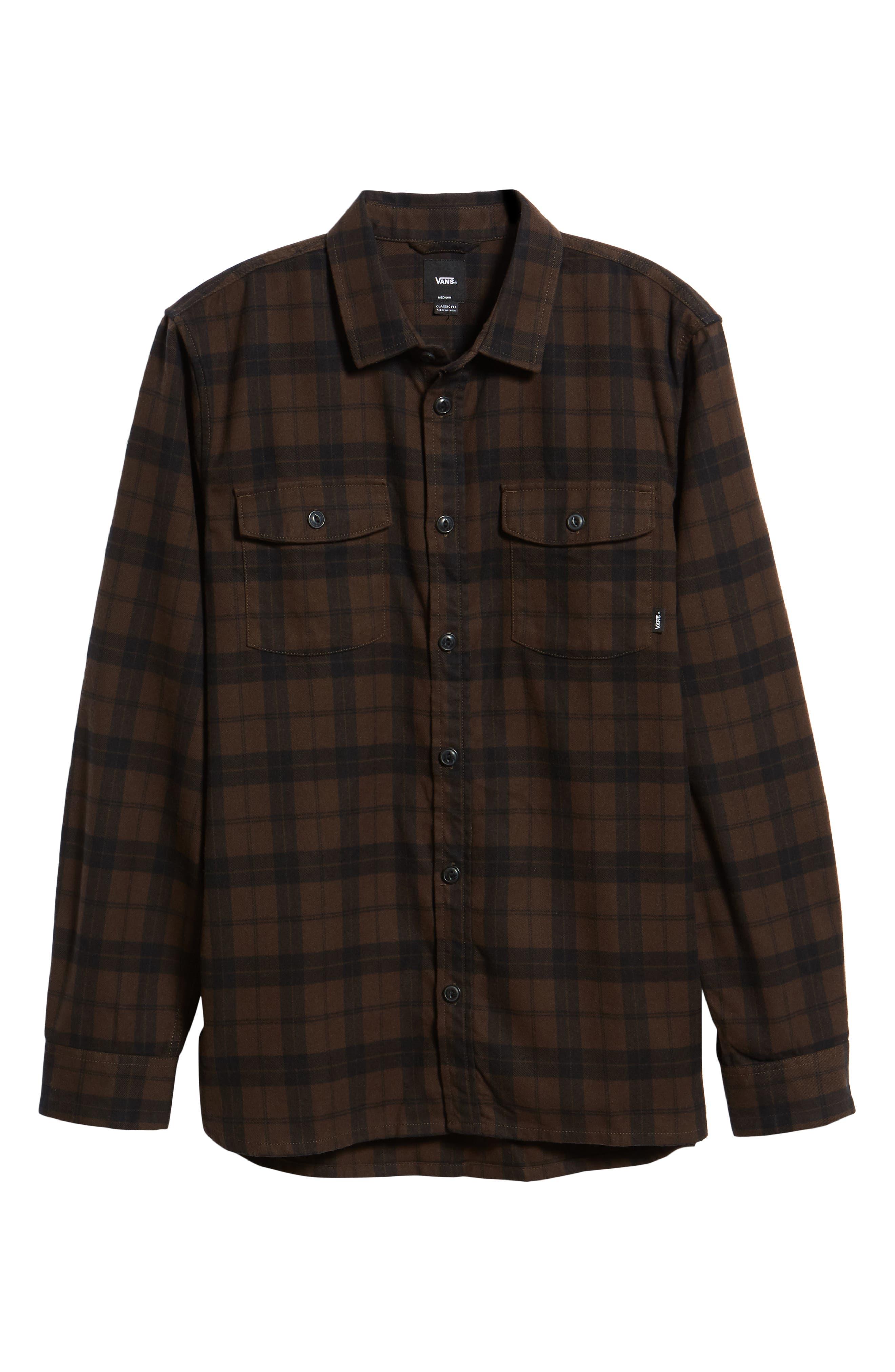 Blackstone Flannel Shirt,                             Alternate thumbnail 5, color,                             DEMITASSE/ BLACK