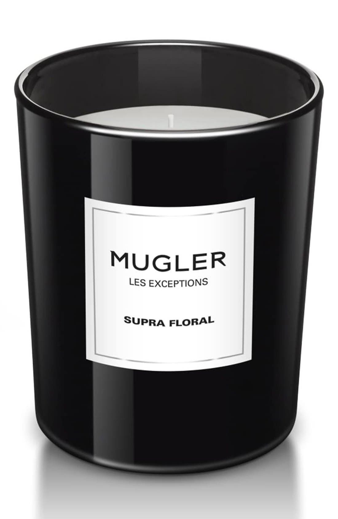 MUGLER,                             'Les Exceptions - Supra Floral' Candle,                             Main thumbnail 1, color,                             NO COLOR