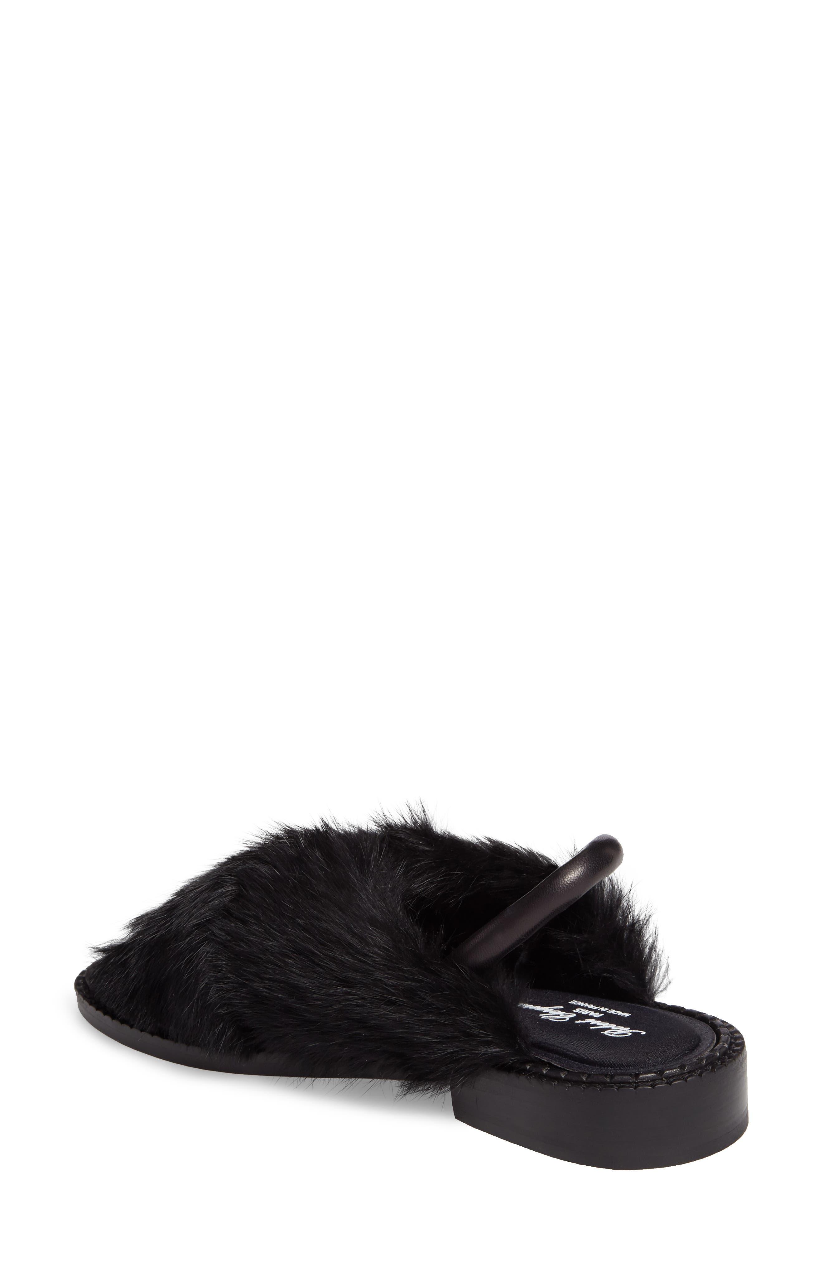 Bloss Genuine Fur Sandal,                             Alternate thumbnail 2, color,                             004