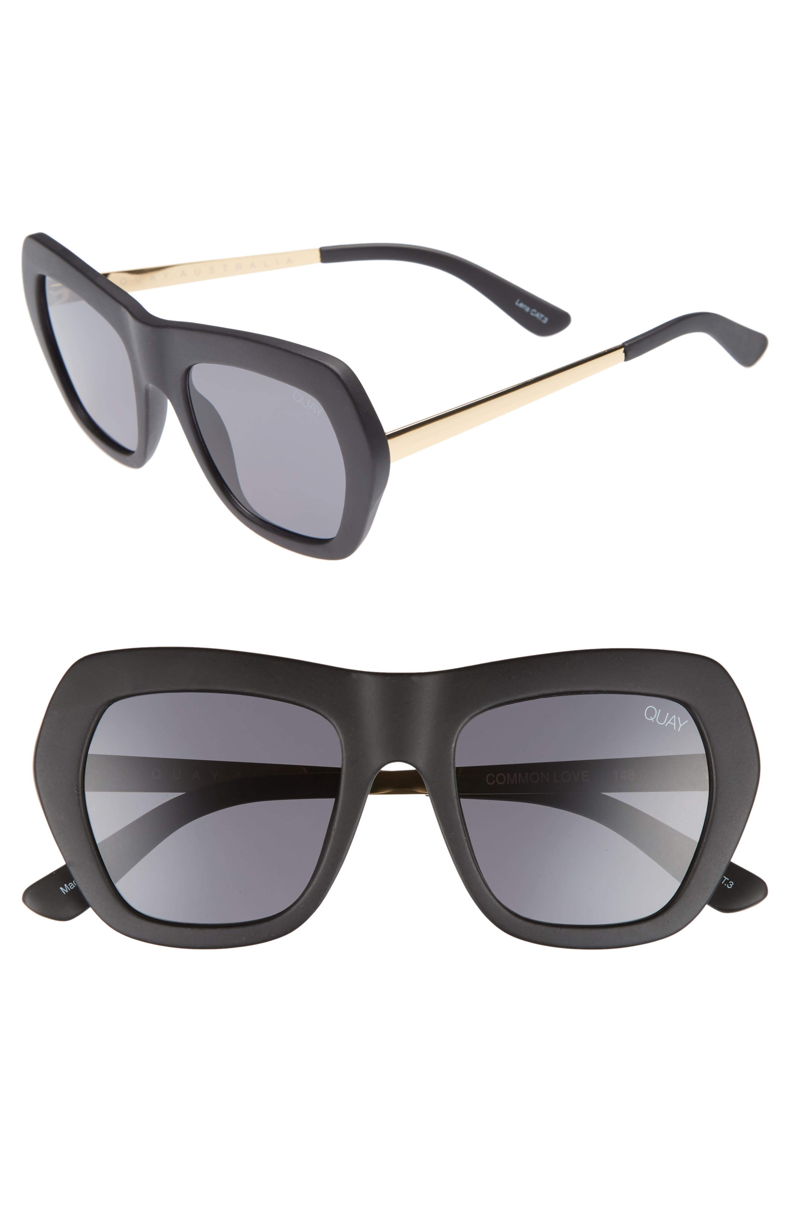Common Love 53mm Square Sunglasses,                             Main thumbnail 1, color,
