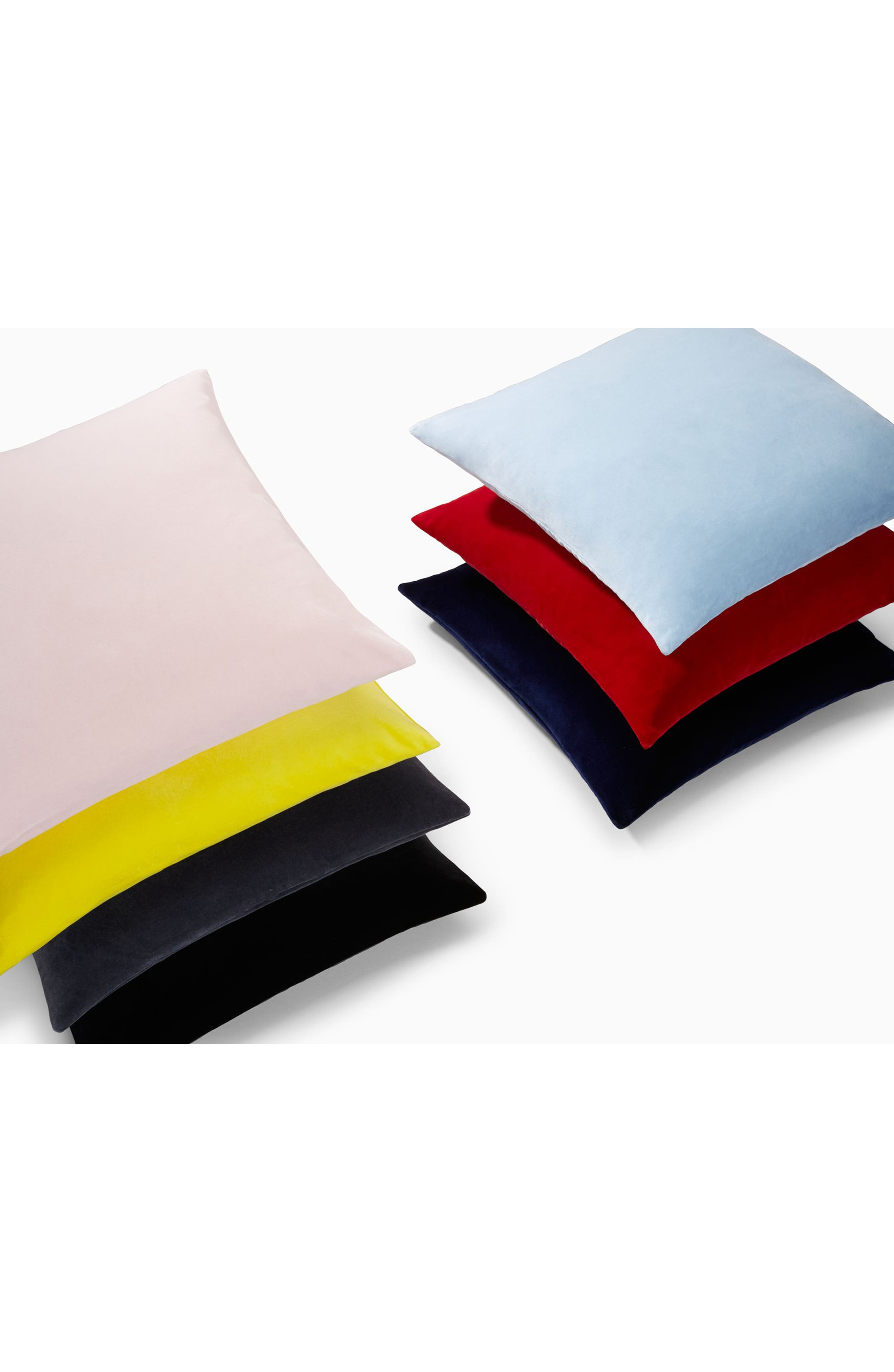 Home Lucerne Velvet Accent Pillow,                             Alternate thumbnail 3, color,                             YELLOW