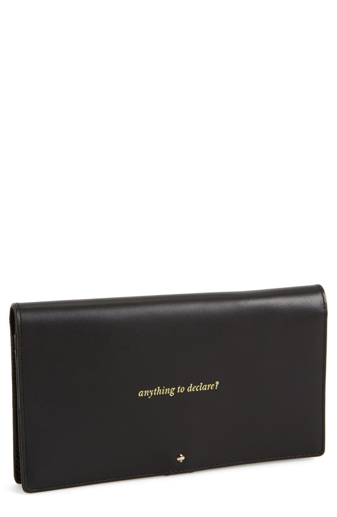 KATE SPADE NEW YORK 'bon voyage' travel wallet, Main, color, 001
